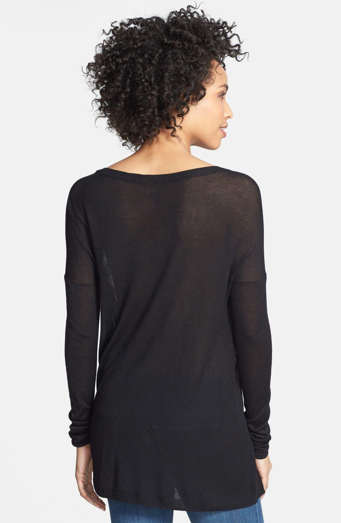 Alternate Image 2  - eric + lani Stripe Front Sweater