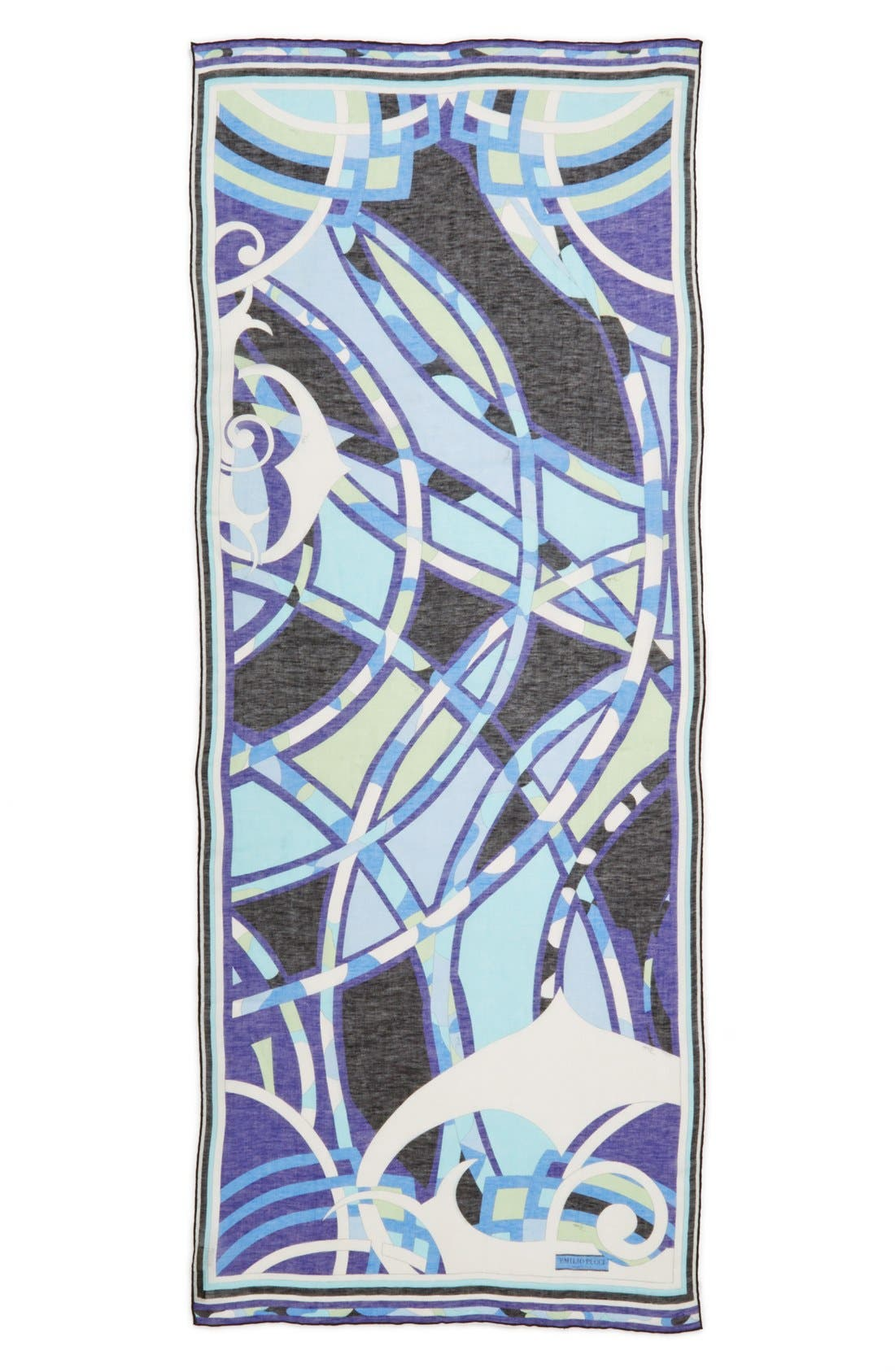 Alternate Image 2  - Emilio Pucci 'Capri' Linen & Cotton Scarf