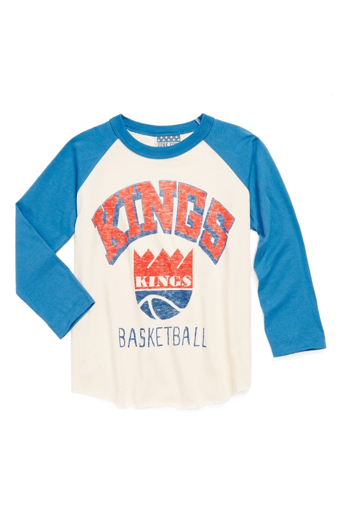 Alternate Image 1 Selected - Junk Food 'Sacramento Kings' Raglan Sleeve T-Shirt (Little Boys & Big Boys)