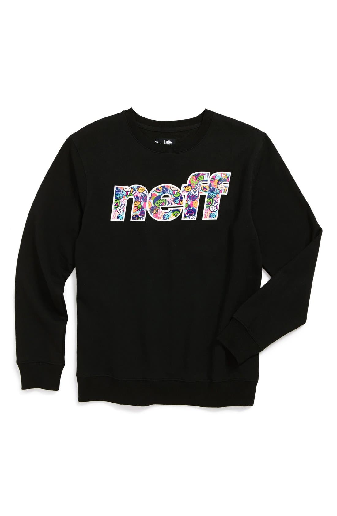 Alternate Image 1 Selected - Neff 'Fun Filled' Crewneck Fleece Shirt (Big Boys)
