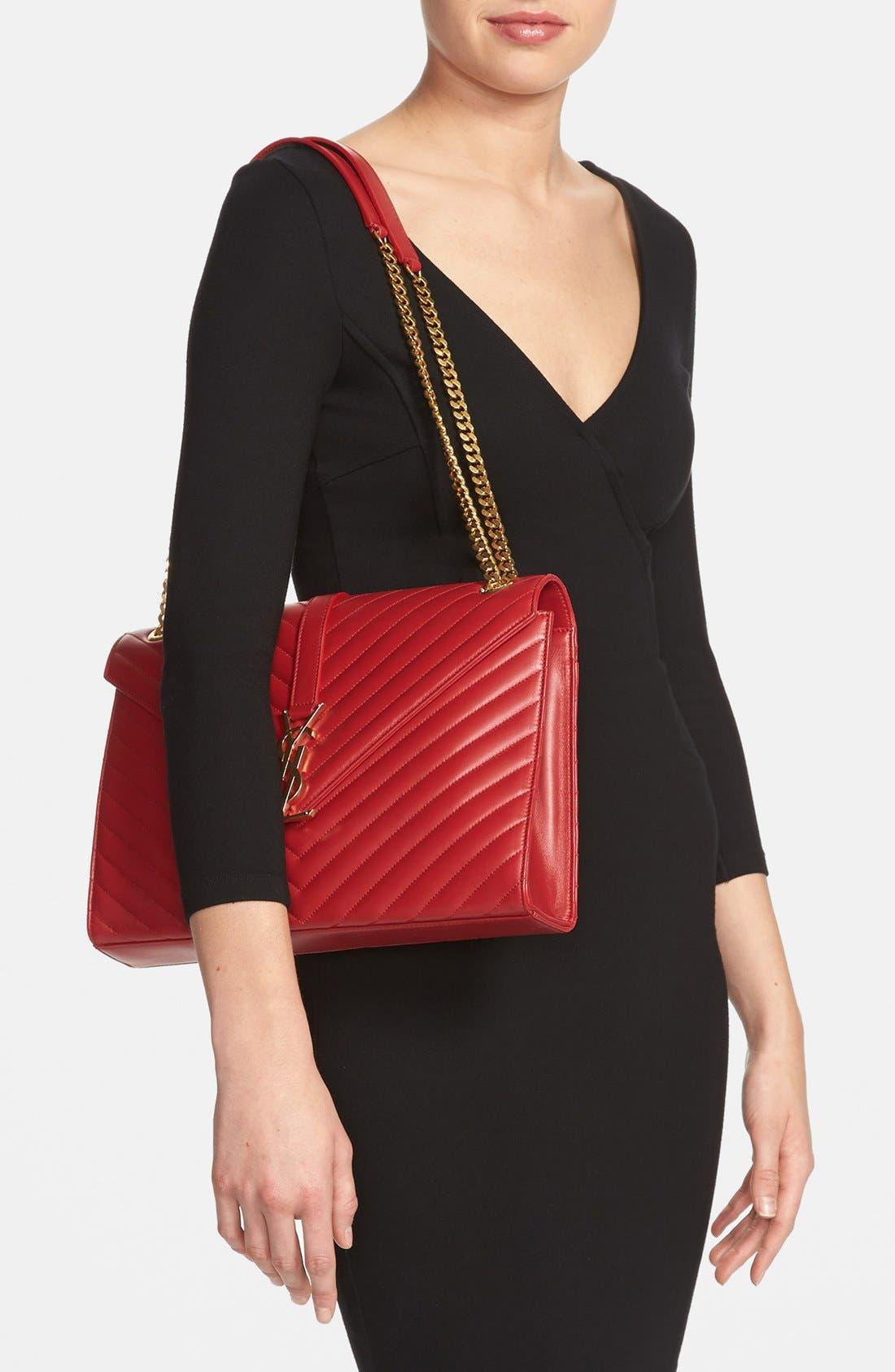 Alternate Image 2  - Saint Laurent 'Cassandre Lisse - Large' Shoulder Bag
