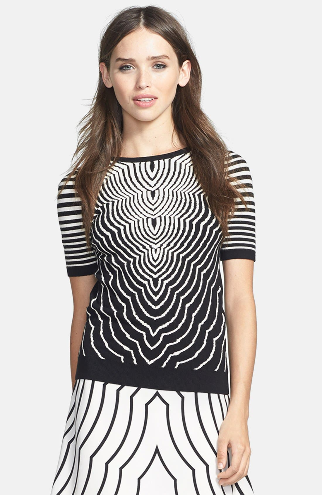 Alternate Image 1 Selected - MARC BY MARC JACOBS 'Radio Waves' Print Crewneck Sweater