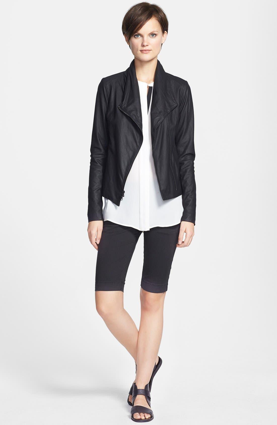 Alternate Image 4  - Vince Leather Scuba Jacket