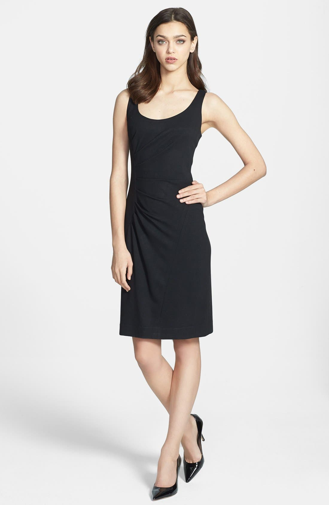 Alternate Image 1 Selected - Milly 'Tucked' Jersey Sheath Dress