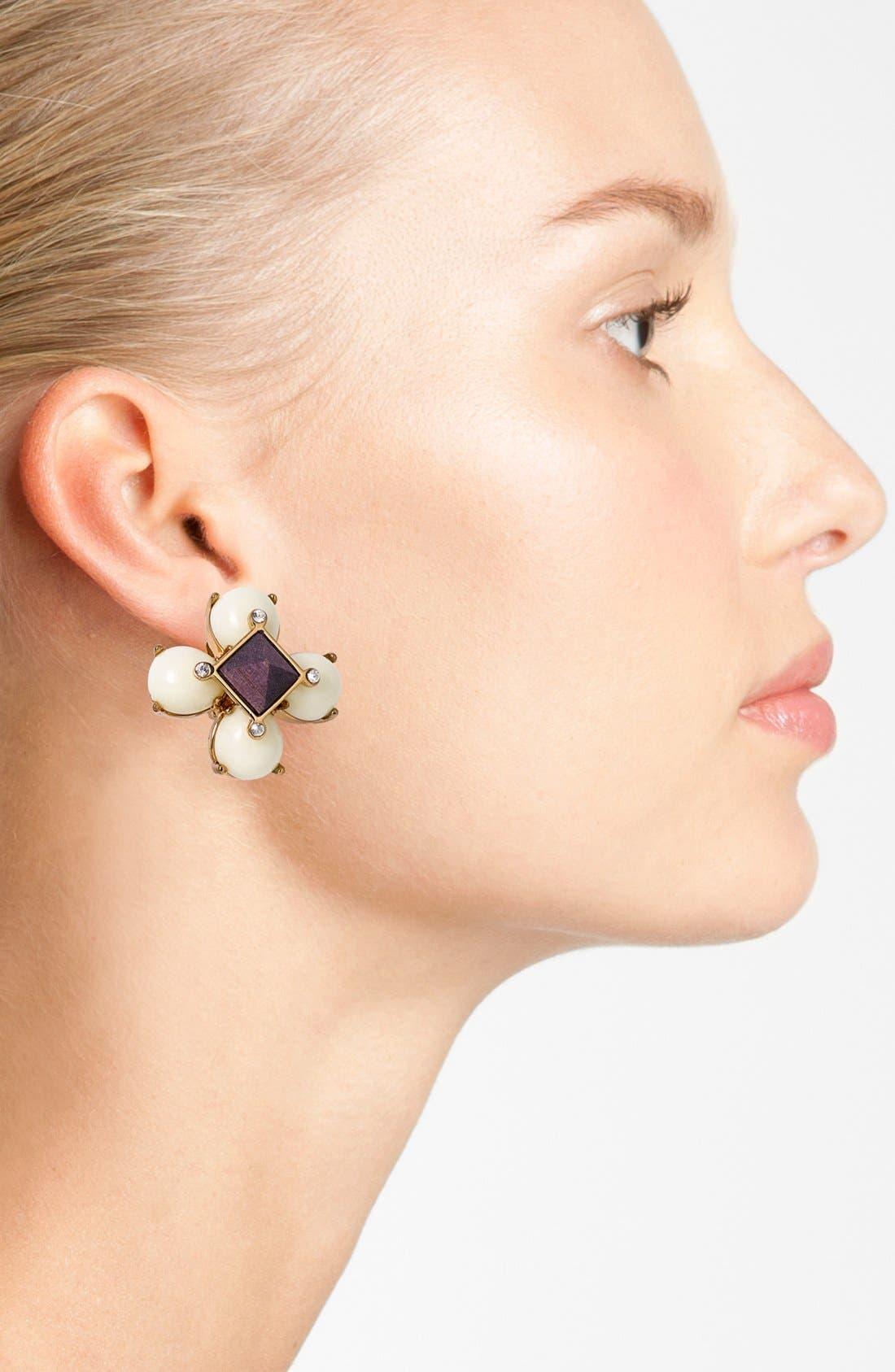 Alternate Image 2  - Tory Burch Cluster Clip Earrings