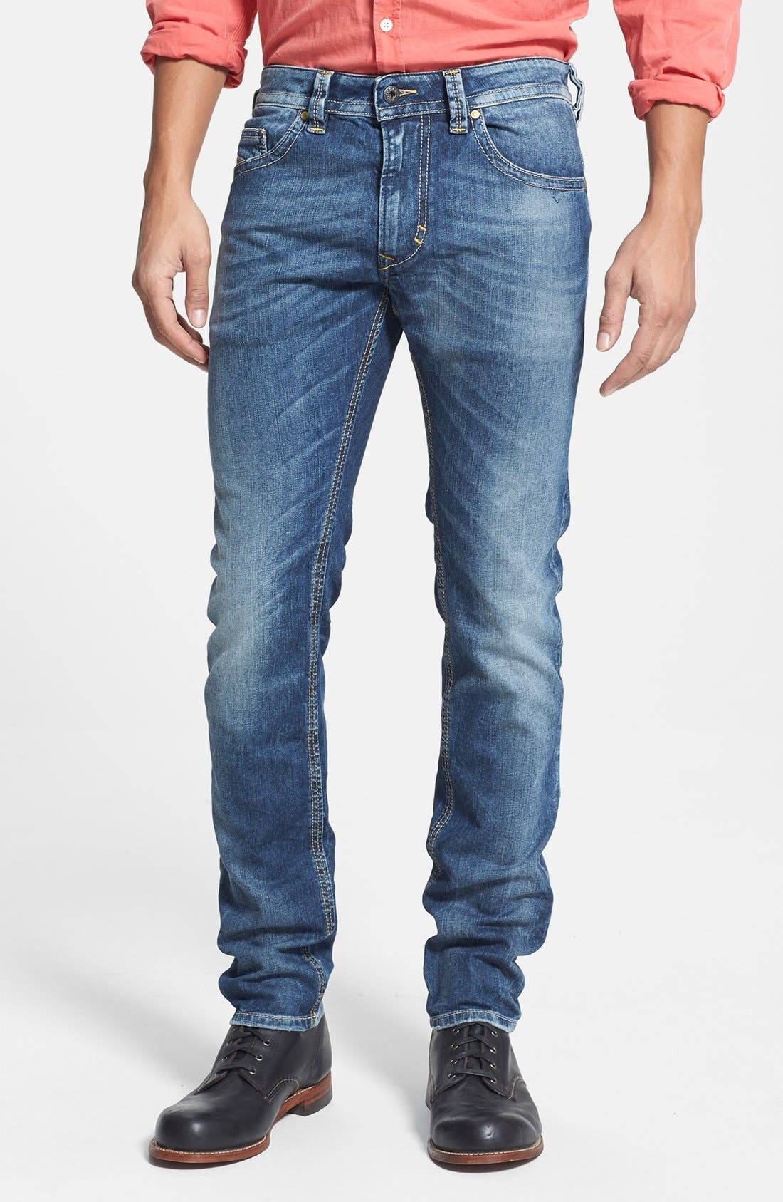 Alternate Image 1 Selected - DIESEL® 'Thavar' Skinny Fit Jeans (827I)