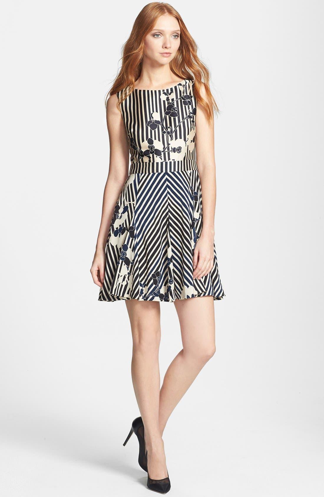 Alternate Image 2  - Diane von Furstenberg 'Kiman' Print Wool Blend A-Line Dress