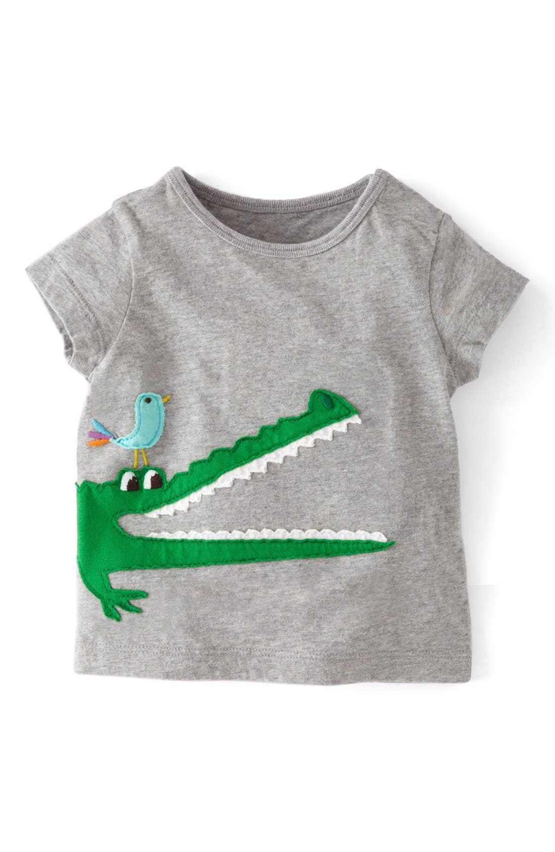 Alternate Image 1 Selected - Mini Boden Animal Appliqué T-Shirt (Baby Boys)