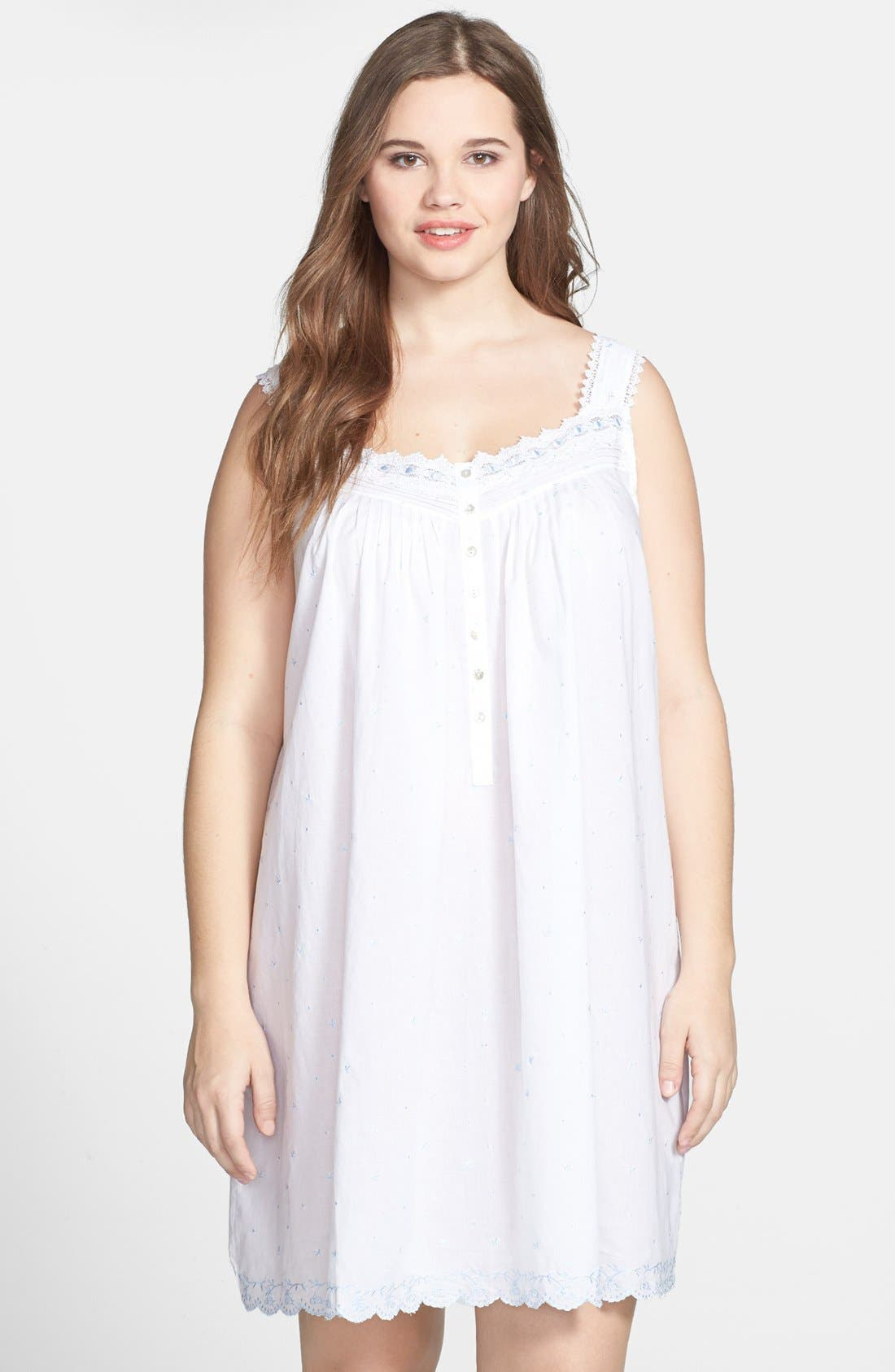 Main Image - Eileen West 'The Romantics' Nightgown (Plus Size)