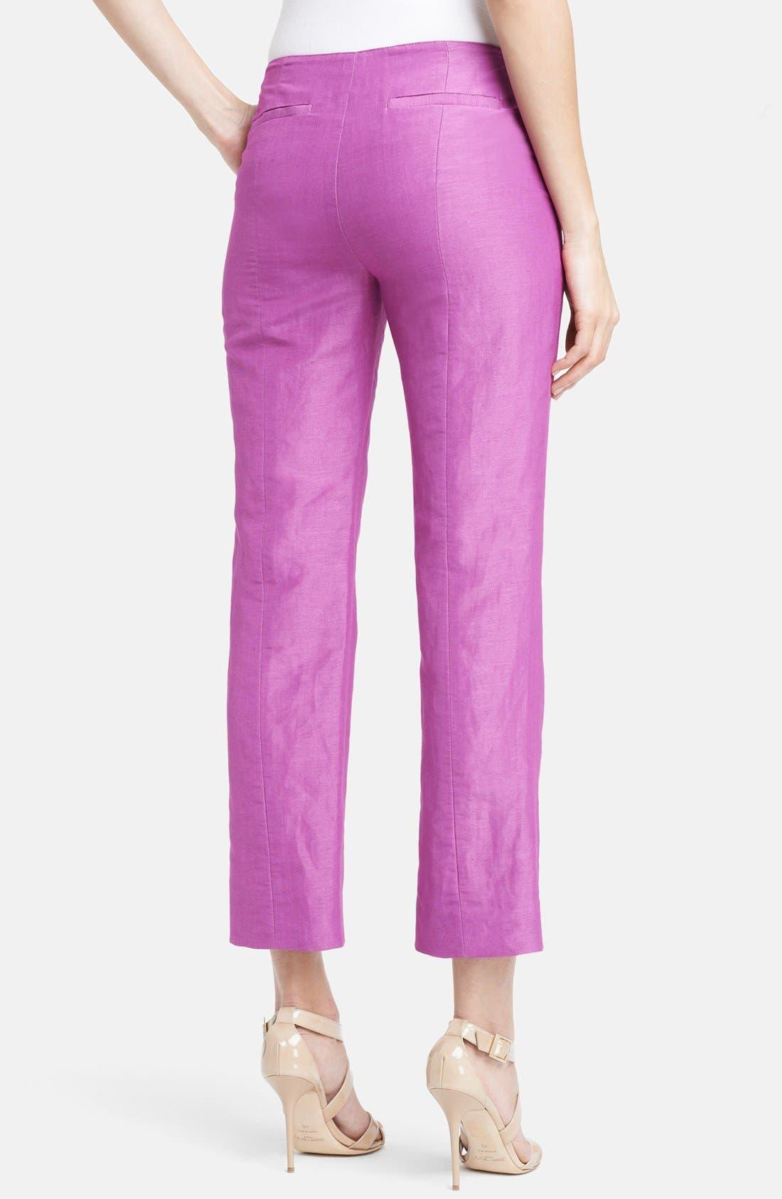 Alternate Image 2  - Armani Collezioni Silk & Linen Capri Pants