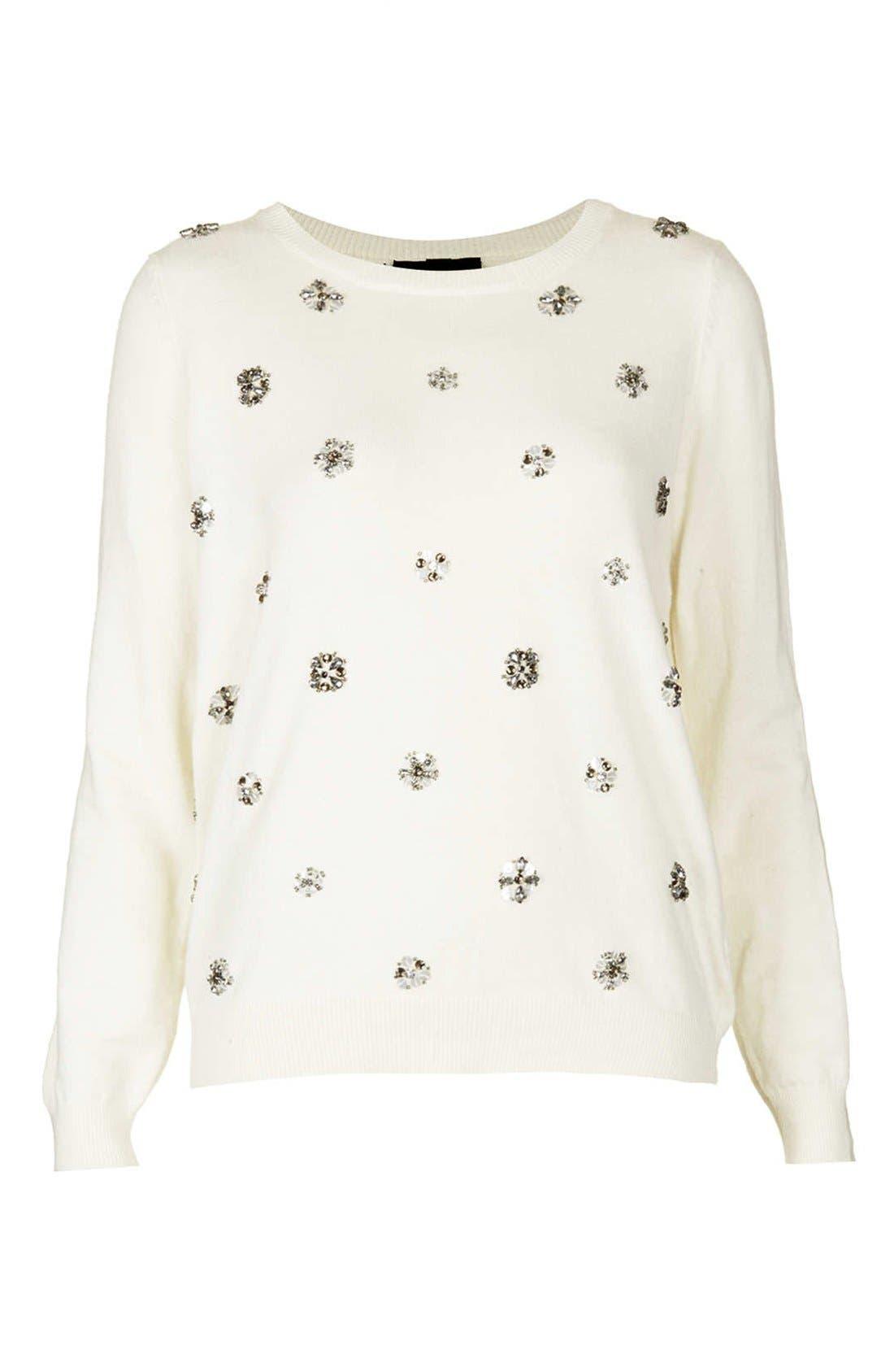 Alternate Image 3  - Topshop Embellished Knit Sweater