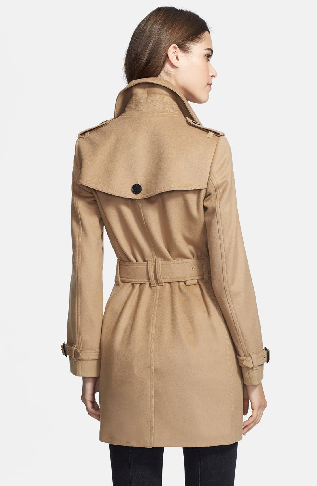 Alternate Image 2  - Burberry London Double Breasted Wool & Cashmere Trench