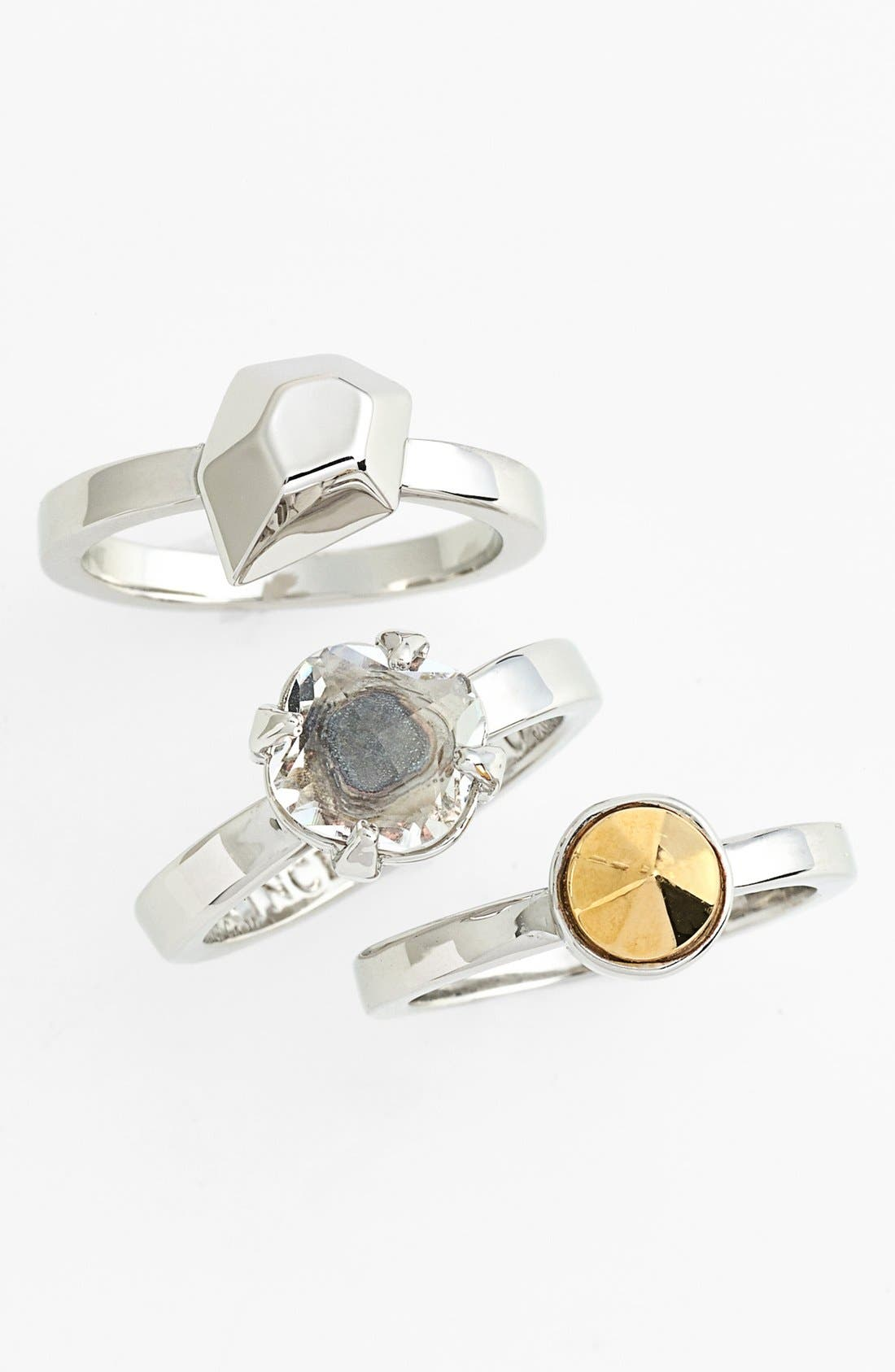 Main Image - Vince Camuto 'Caviar Dreams' Stackable Rings (Set of 3) (Nordstrom Exclusive)