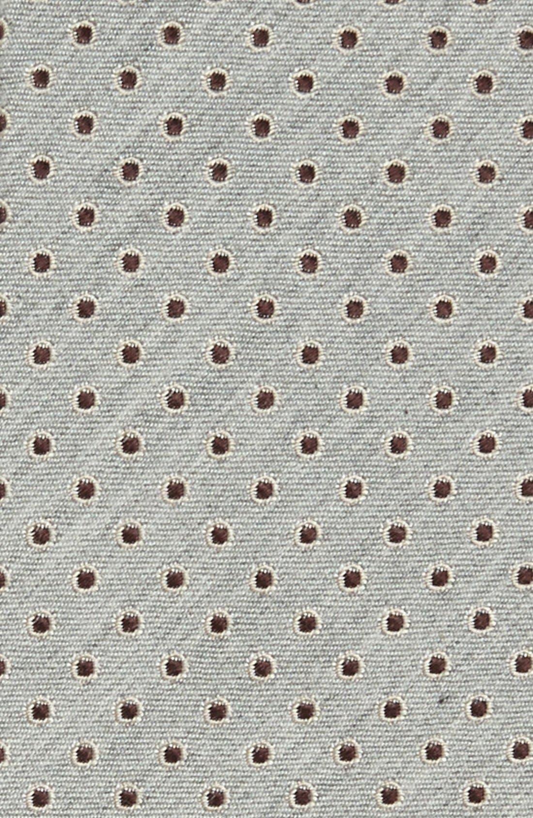 Alternate Image 2  - Dolce&Gabbana Martini Weave Circle Dot Silk Tie