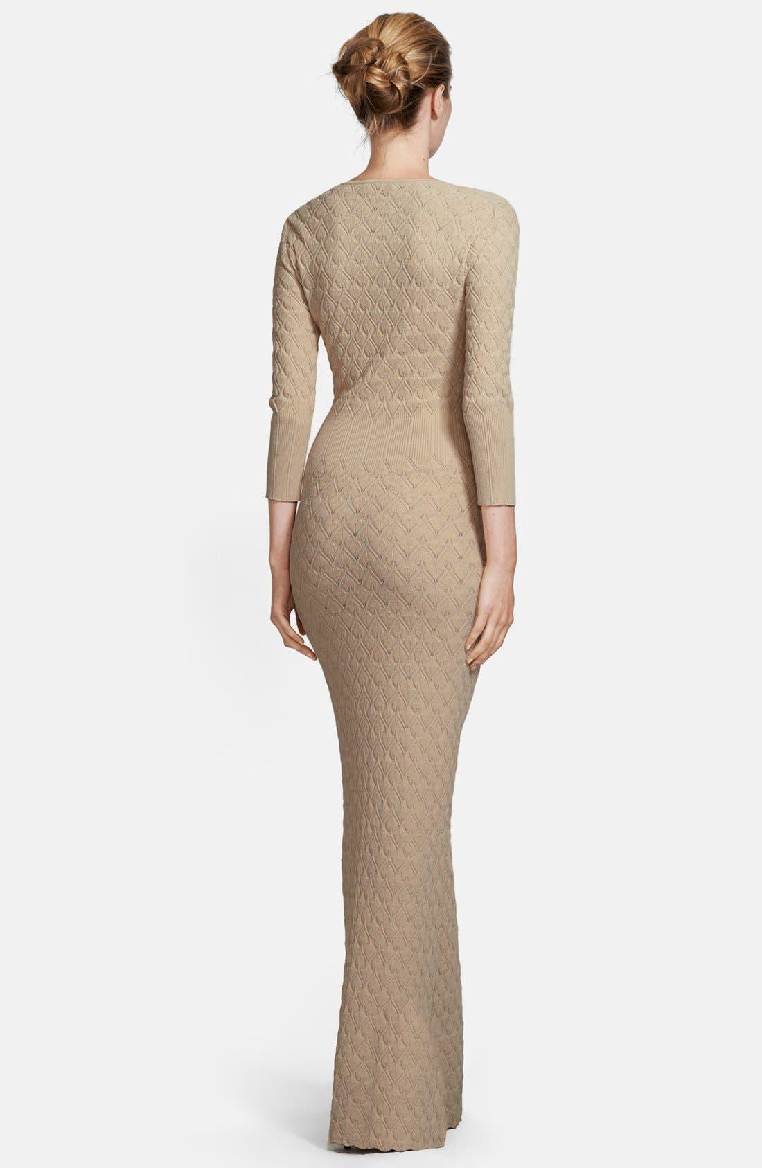 Alternate Image 2  - Alexander McQueen Diamond Knit Gown