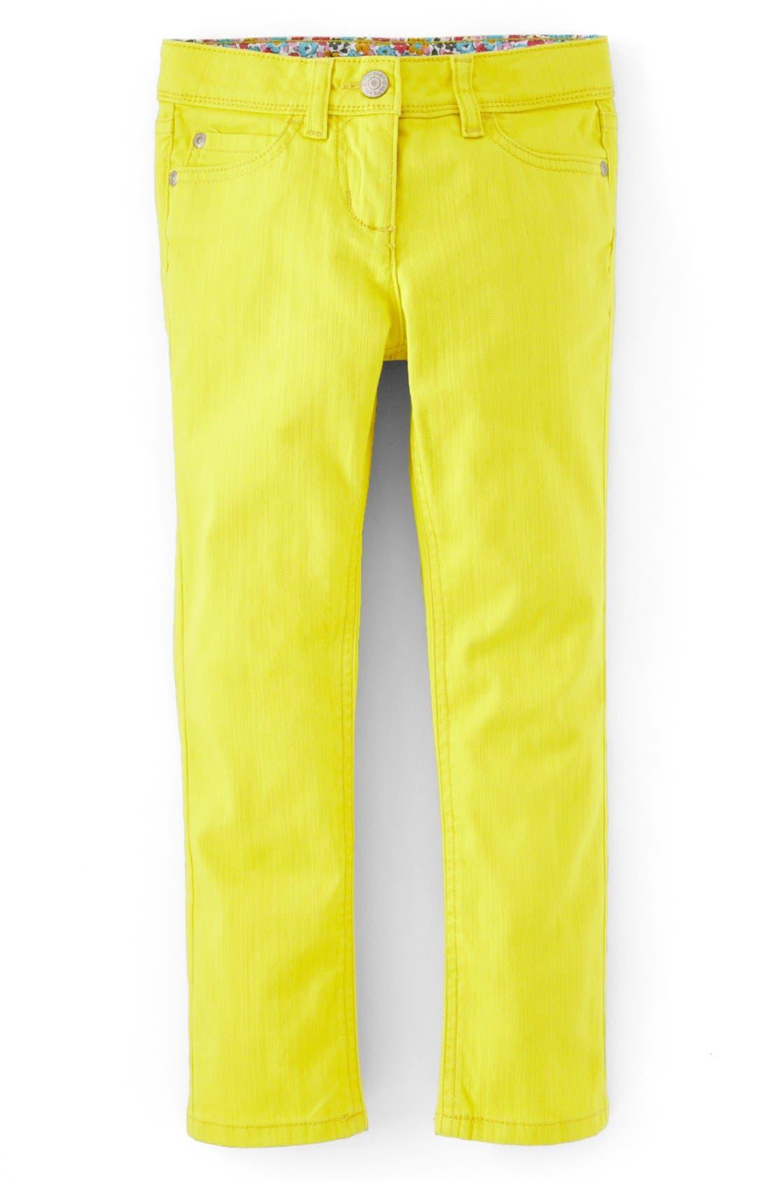 Alternate Image 1 Selected - Mini Boden Slim Fit Twill Jeans (Little Girls & Big Girls)
