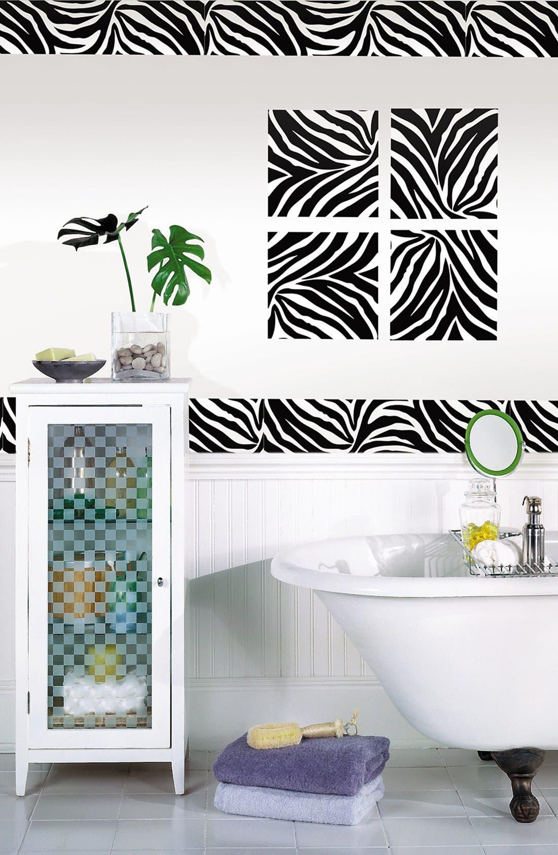 Alternate Image 1 Selected - Wallpops 'Go Wild Zebra Blox & Stripes' Wall Art