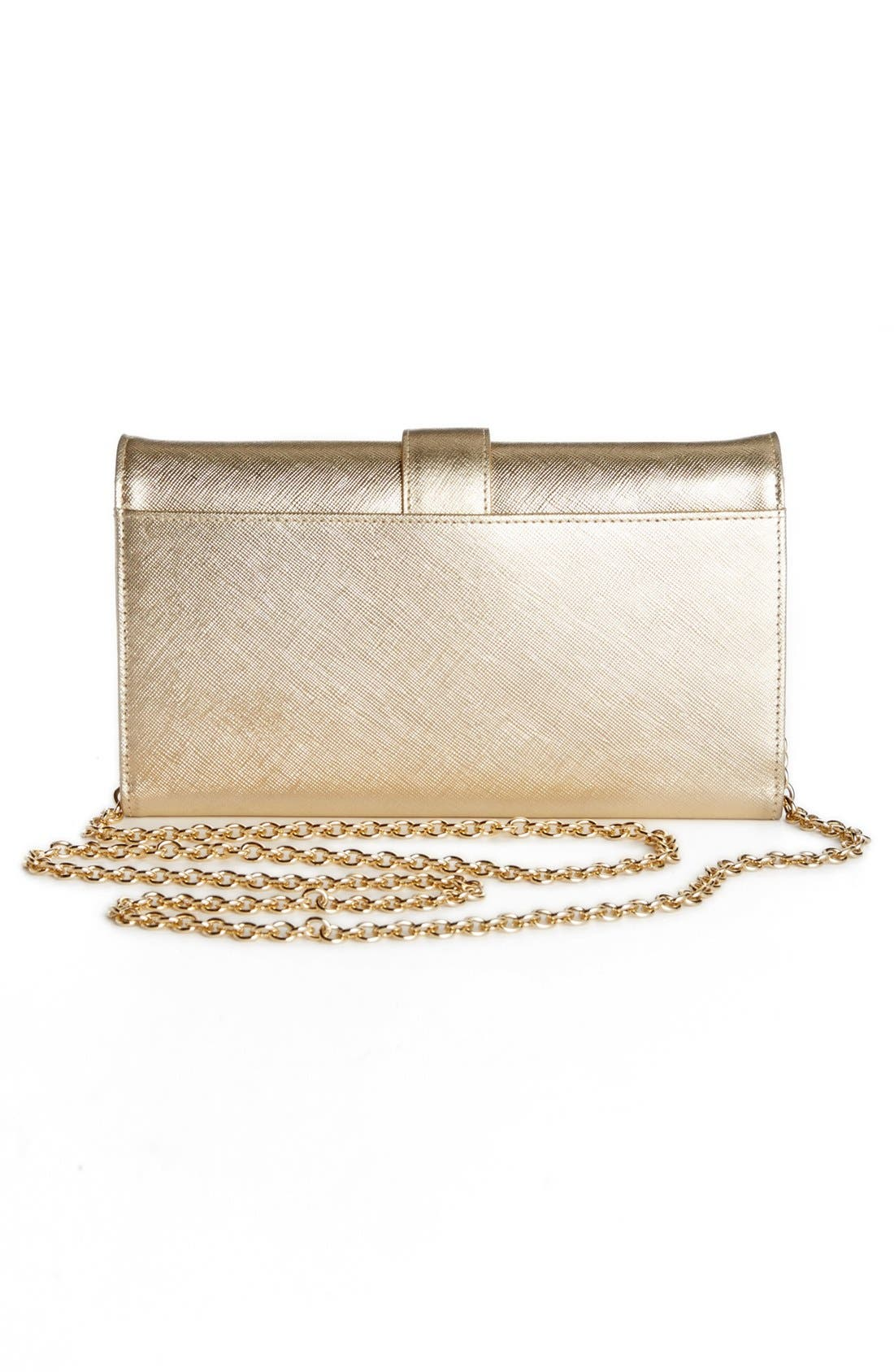 Alternate Image 4  - Halogen® Saffiano Leather Crossbody Clutch Wallet