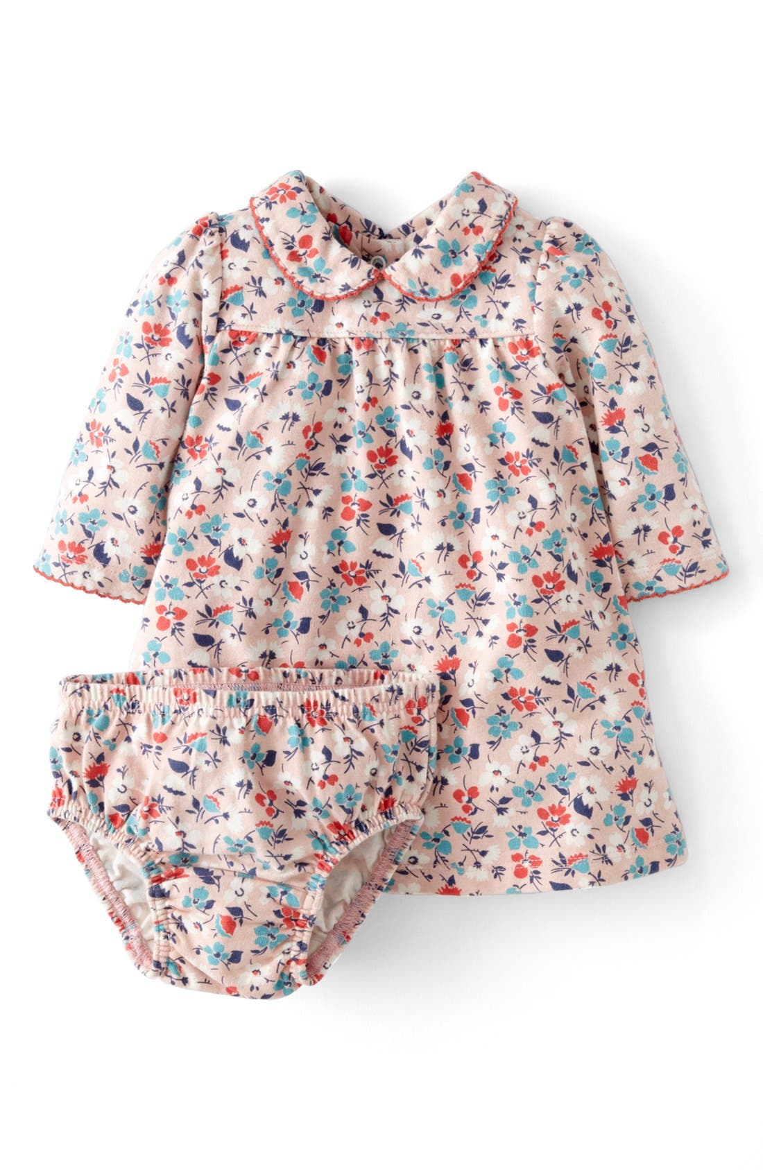 Alternate Image 1 Selected - Mini Boden 'Pretty' Jersey Dress (Baby Girls)