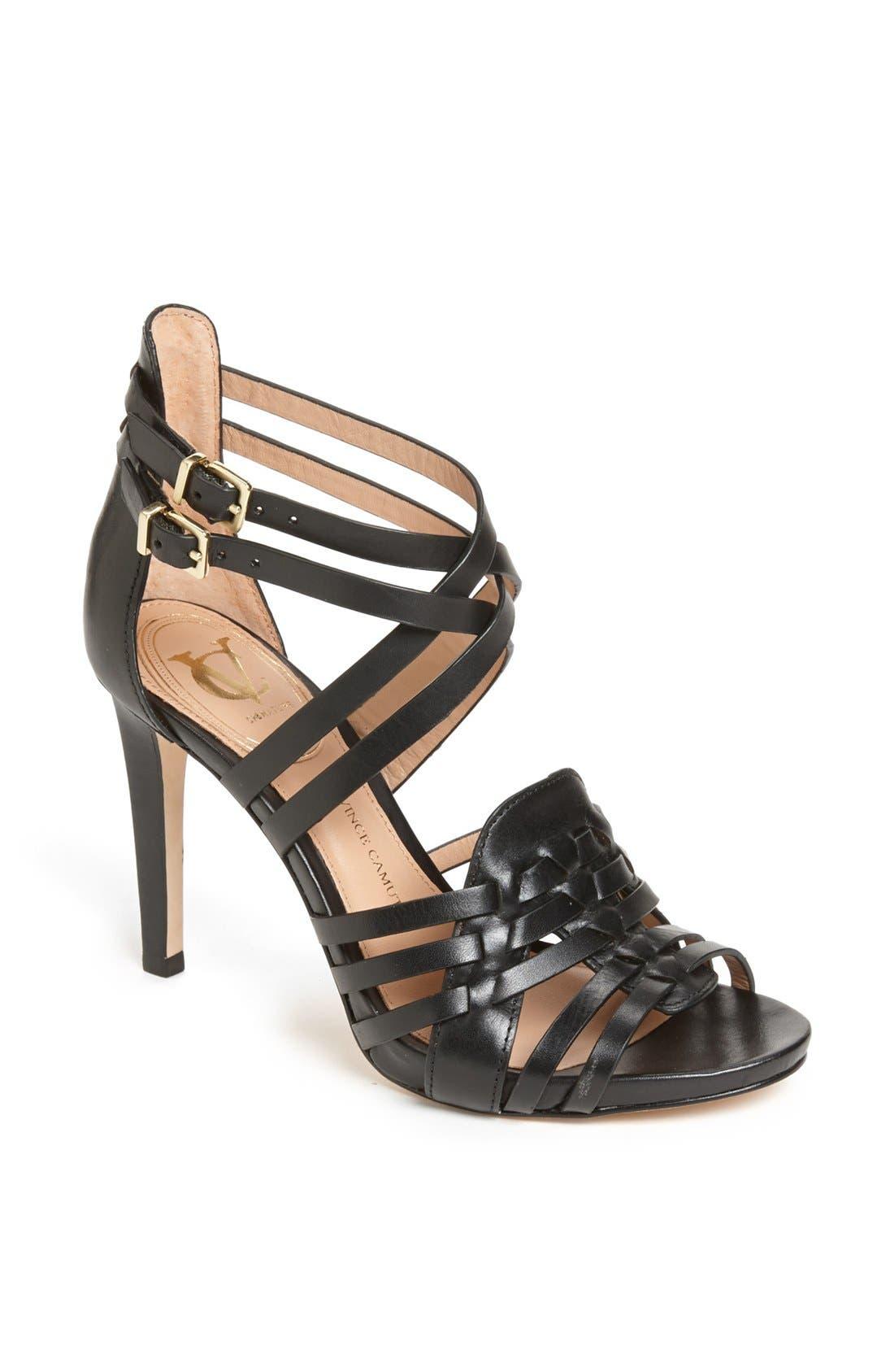 Main Image - VC Signature 'Barbaraa' Woven Leather Sandal