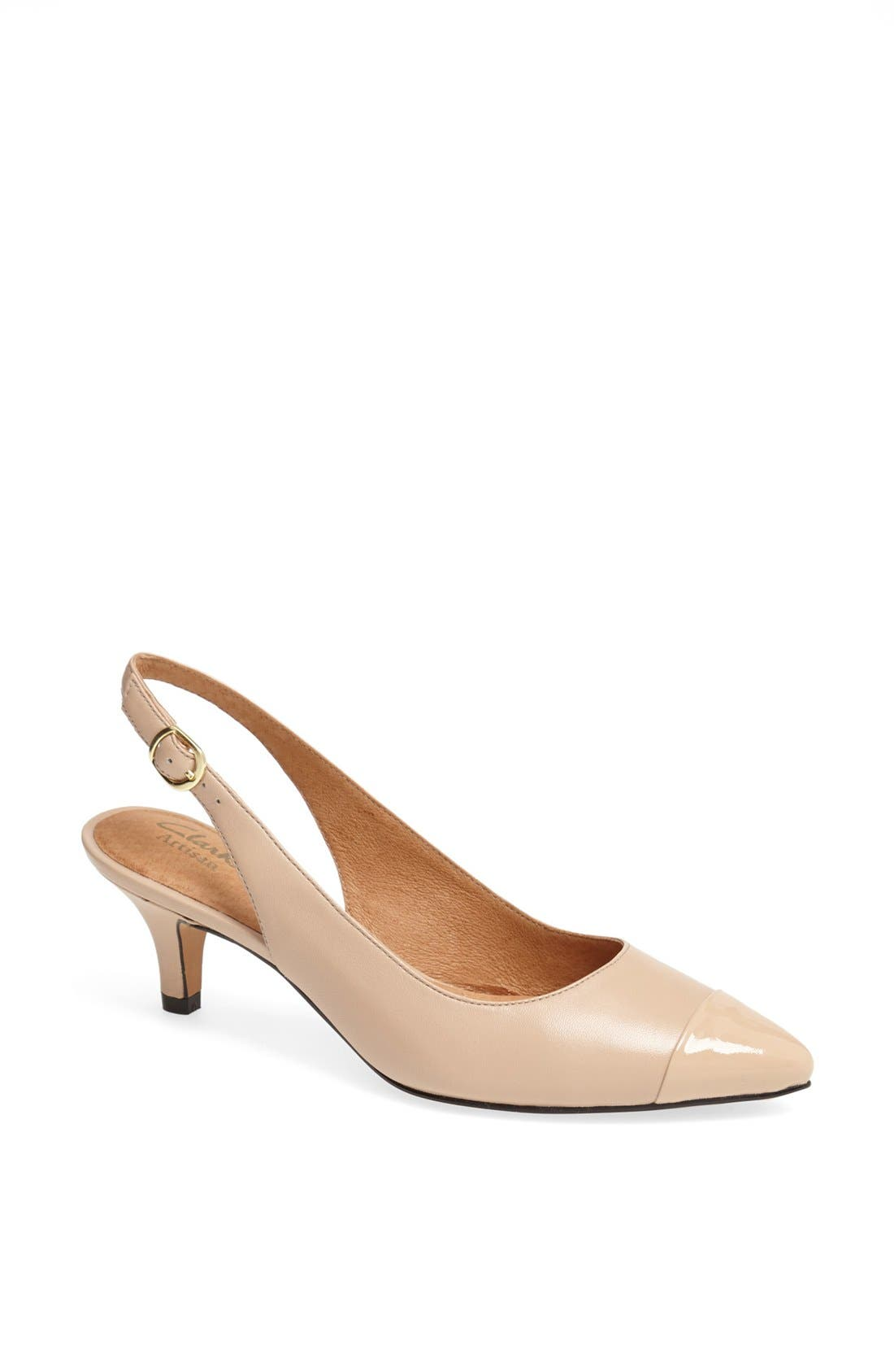 Alternate Image 1 Selected - Clarks® 'Sage Hallie' Slingback Pump