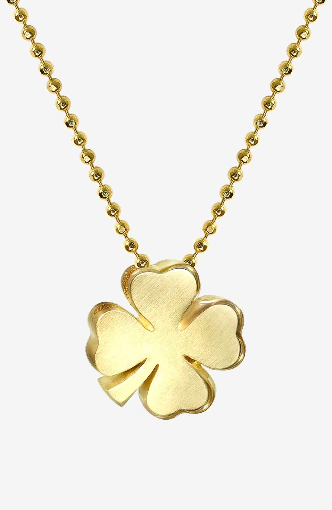 Main Image - Alex Woo 'Little Luck' Clover Pendant Necklace