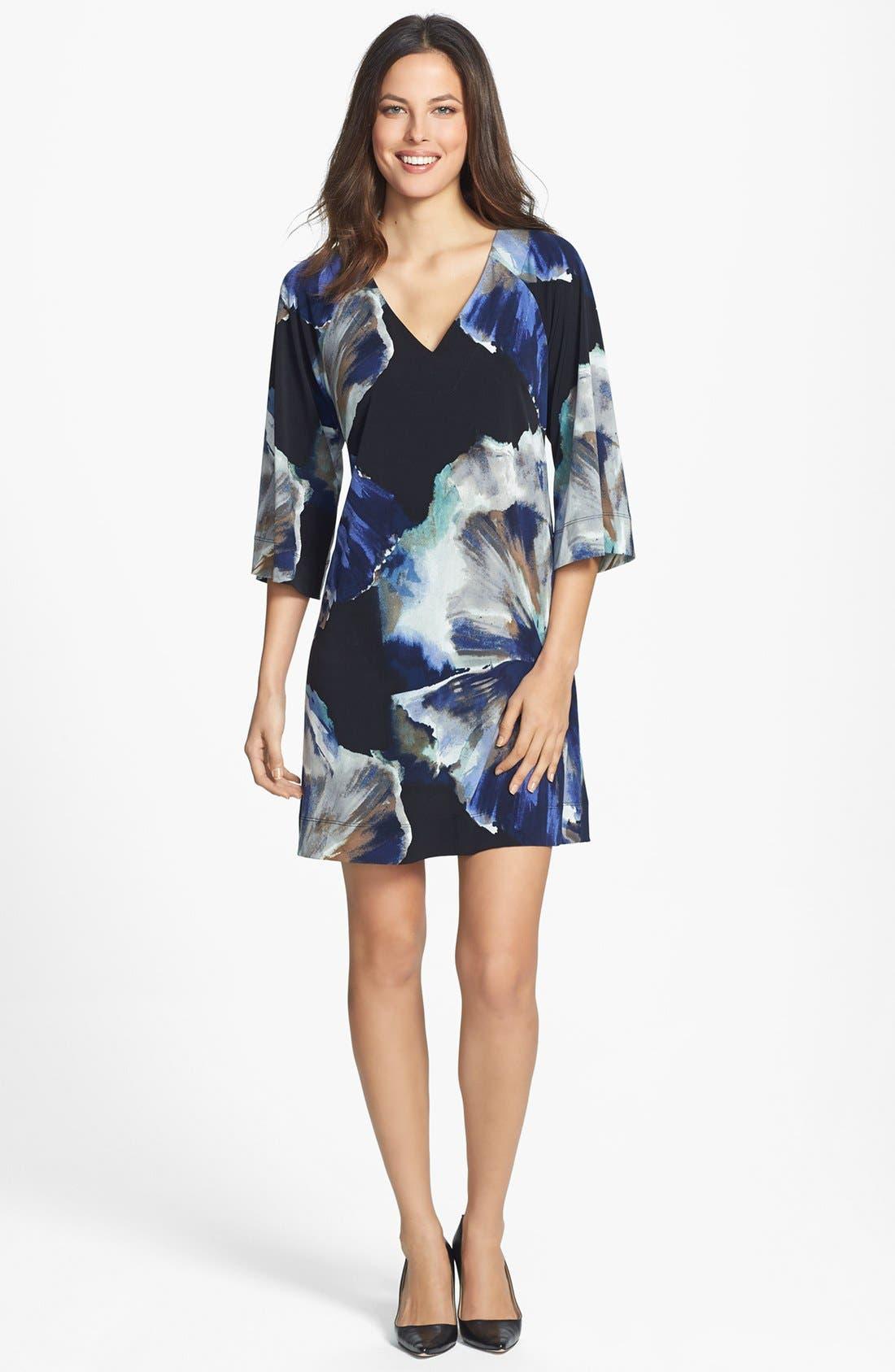 Alternate Image 3  - Donna Ricco Print Jersey Shift Dress