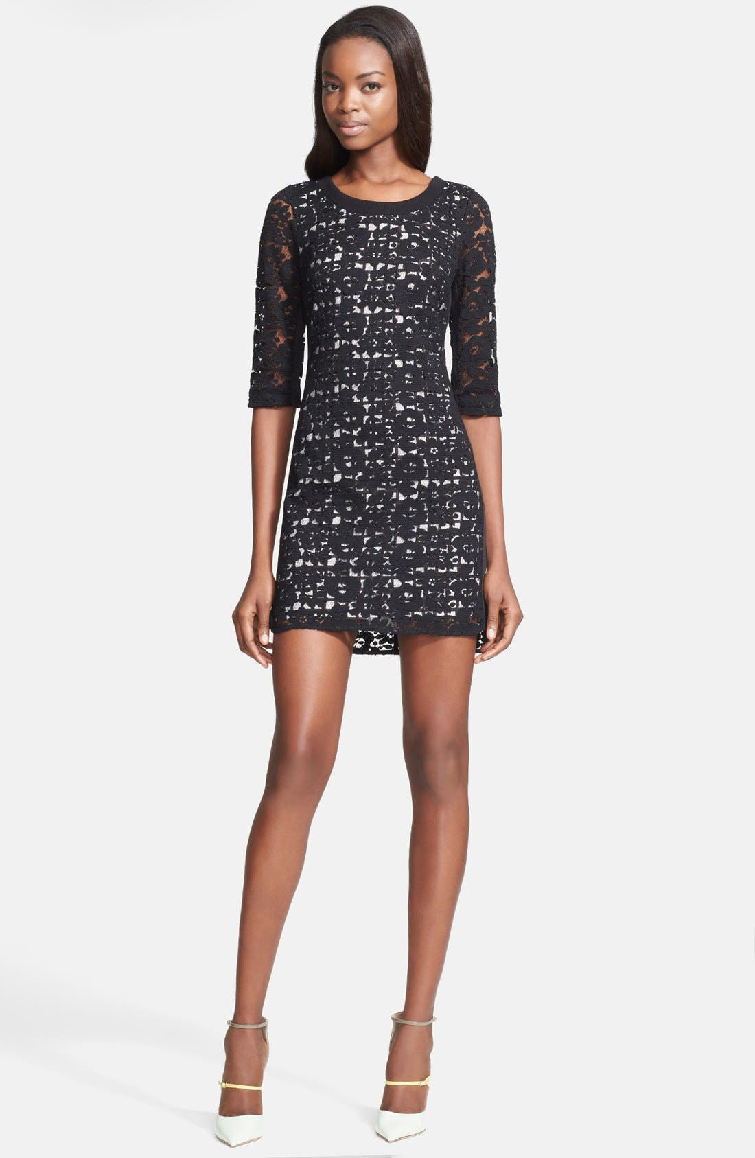 Alternate Image 1 Selected - Tracy Reese Lace Print Lace Dress