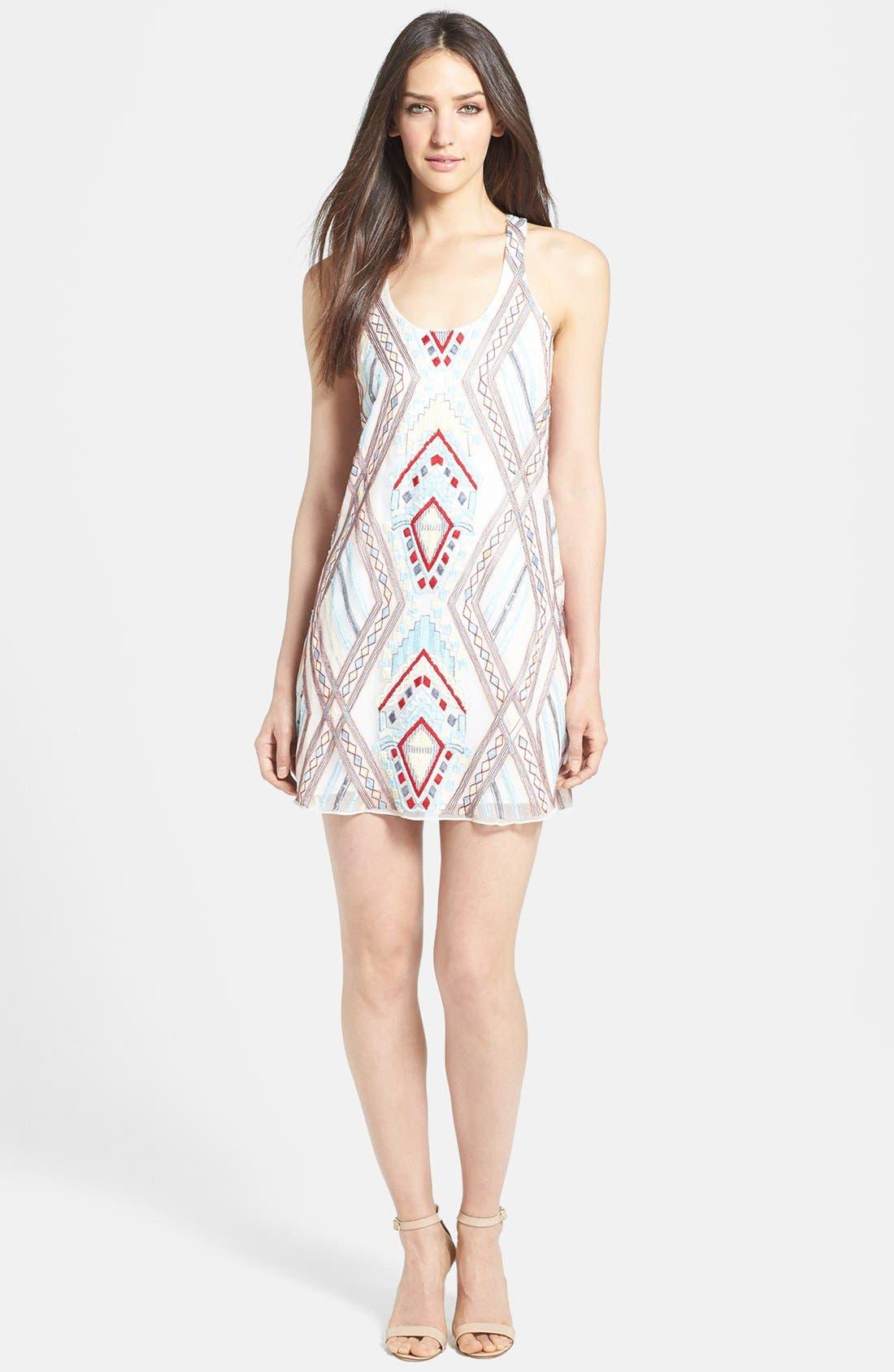 Main Image - Parker Mixed Media Sheath Dress