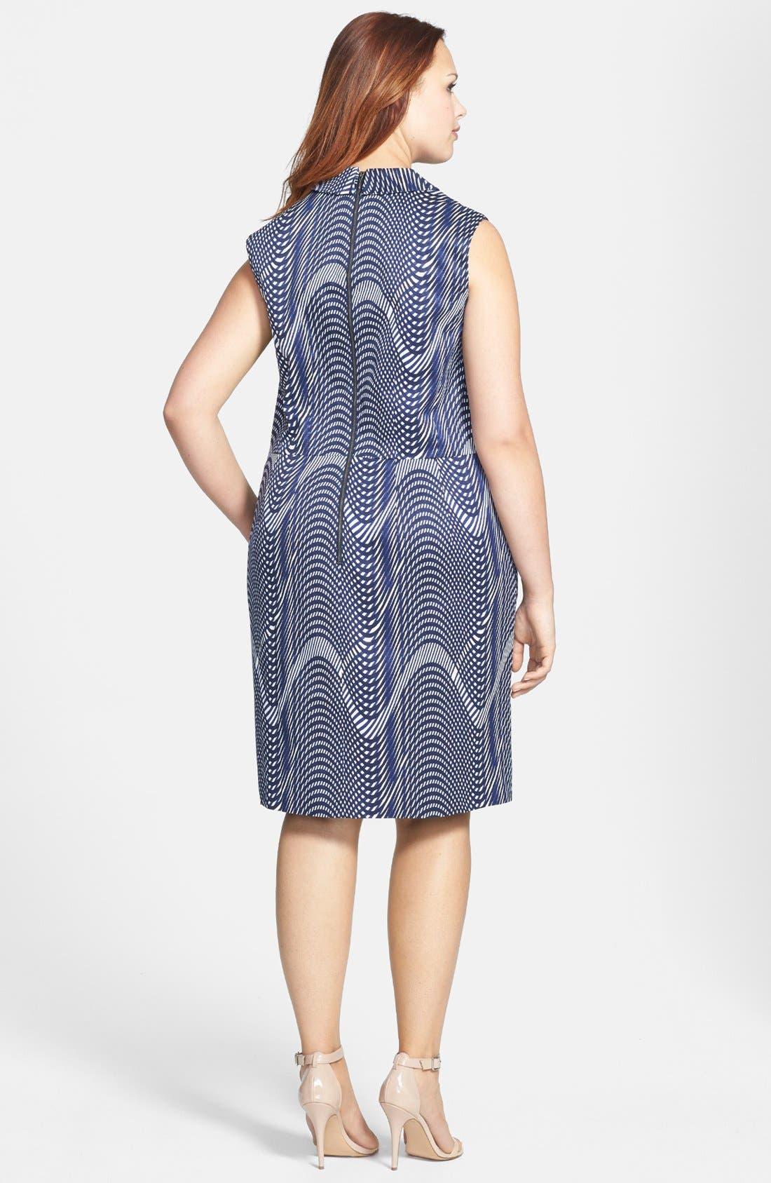 Alternate Image 2  - Halogen® Faille Sheath Dress (Plus Size)