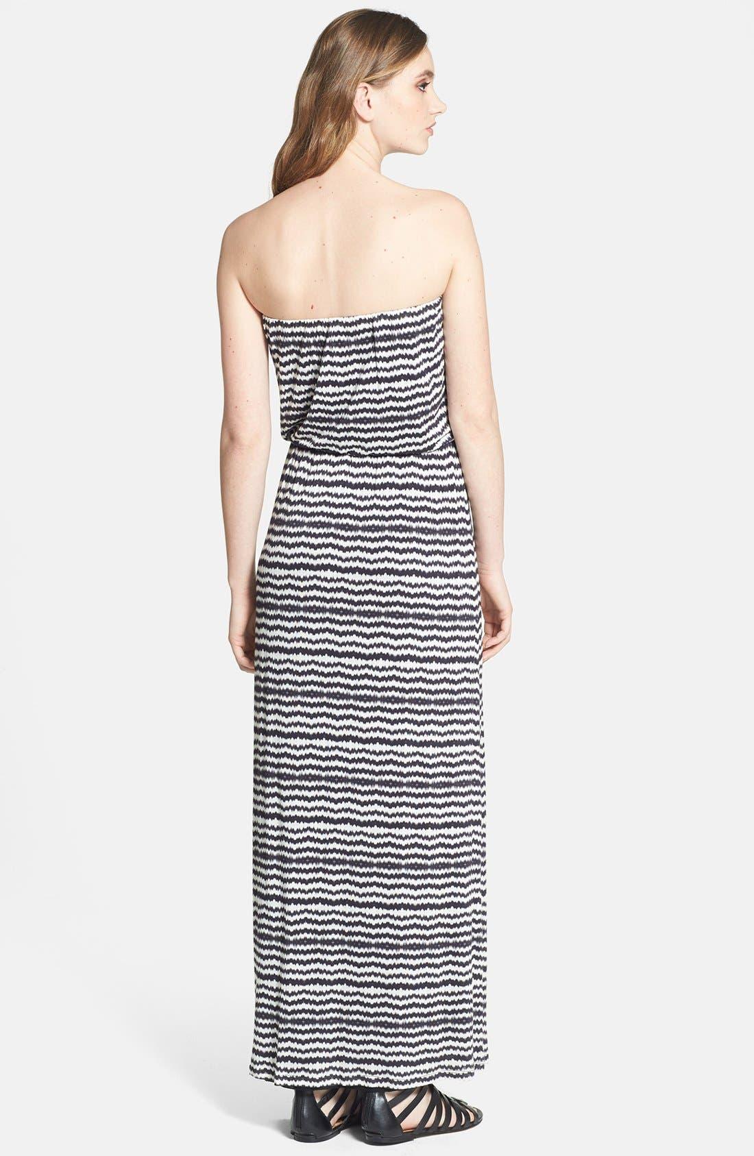 Alternate Image 2  - Velvet by Graham & Spencer Geo Stripe Maxi Dress