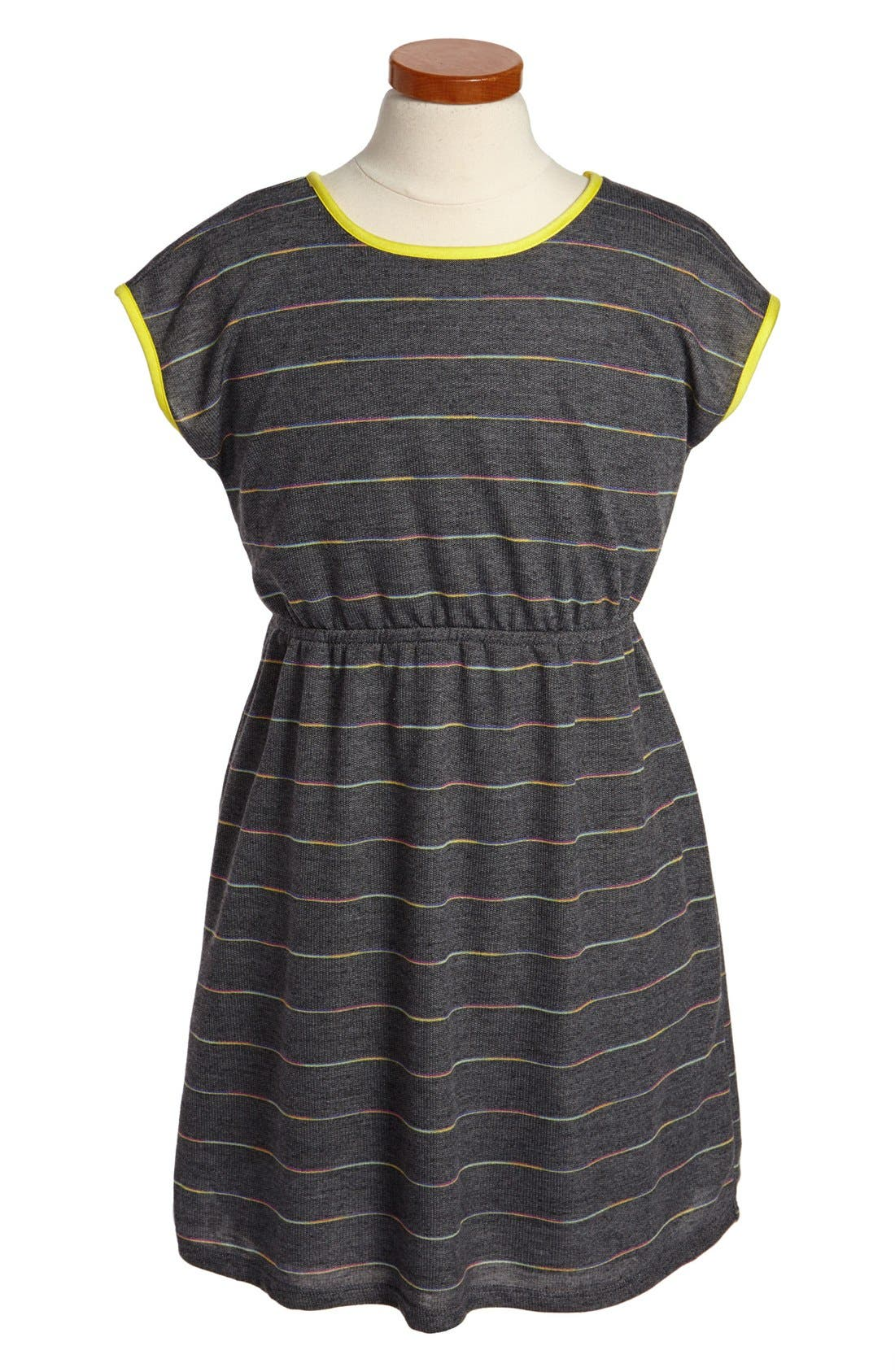 Alternate Image 1 Selected - Soprano Stripe Dress (Big Girls)