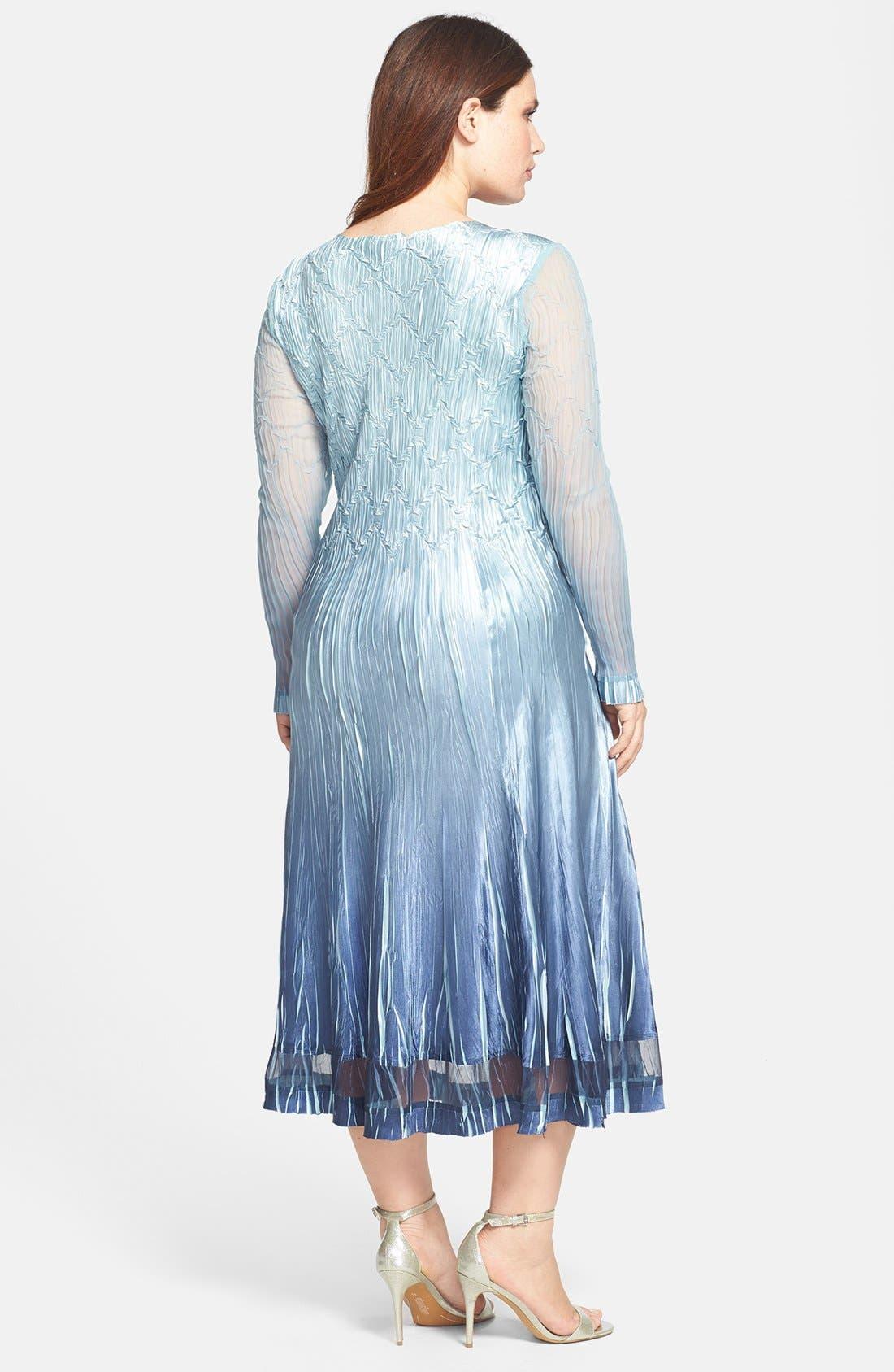Alternate Image 2  - Komarov Chiffon & Charmeuse Embellished Dress (Plus Size)