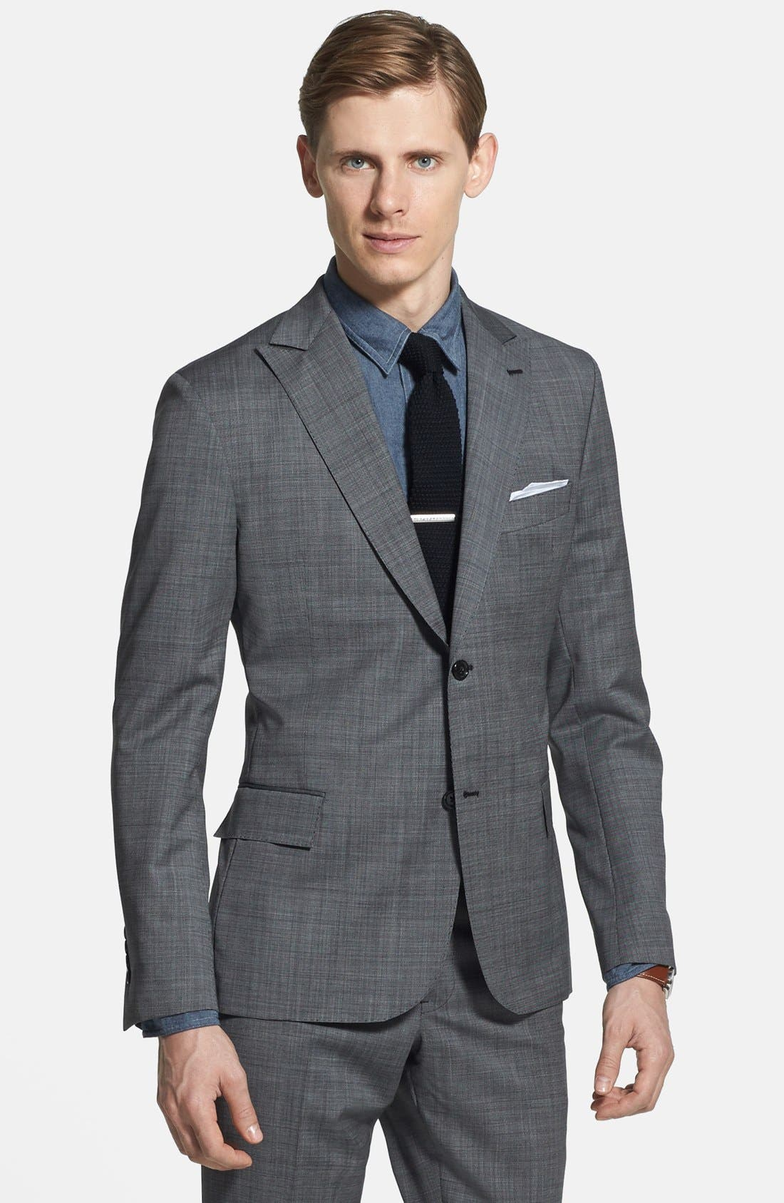Alternate Image 3  - Todd Snyder Grey Wool Suit