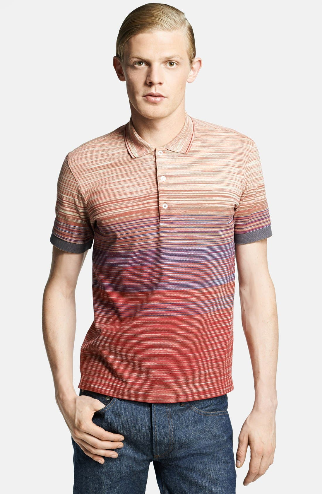 Main Image - Missoni Space Dyed Jersey Polo