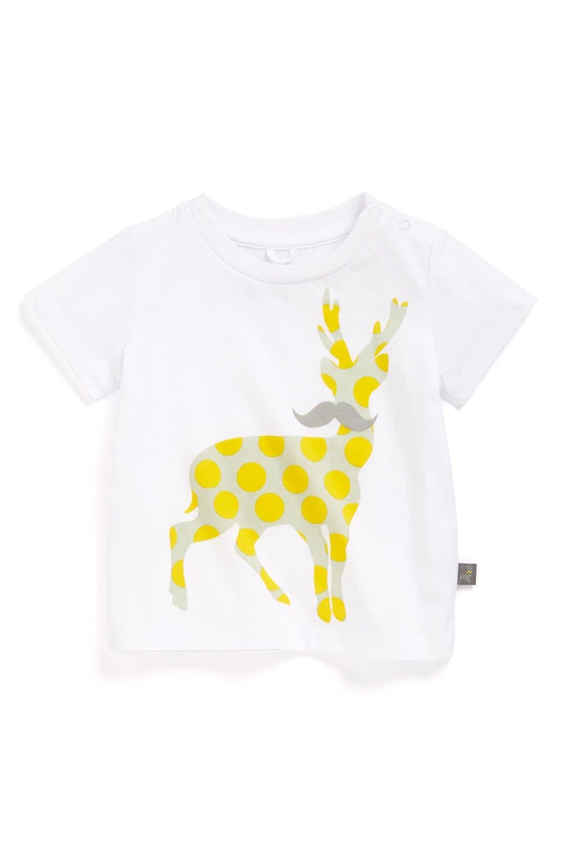 Main Image - Stella McCartney Kids 'Chuckle Deer' Tee (Baby)