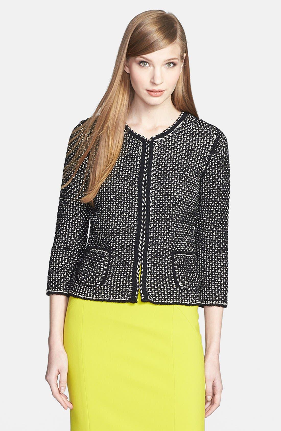 Main Image - BOSS HUGO BOSS Cotton Blend Sweater Jacket