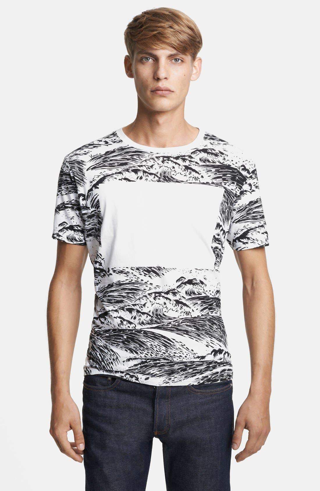 Alternate Image 1 Selected - KENZO Wave Print Crewneck T-Shirt