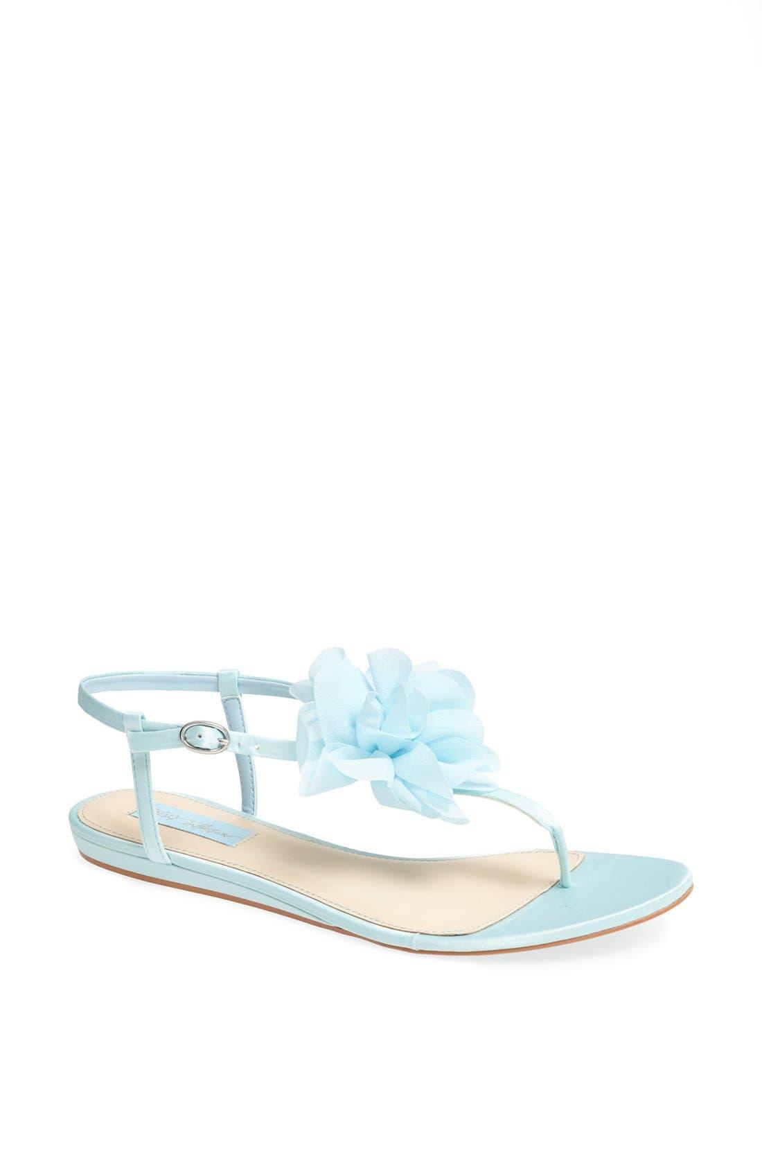 Alternate Image 1 Selected - Blue by Betsey Johnson 'Iris' Thong Sandal