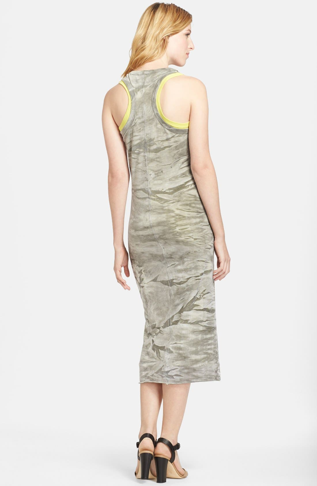 Alternate Image 2  - Enza Costa Double Layer Midi Tank Dress
