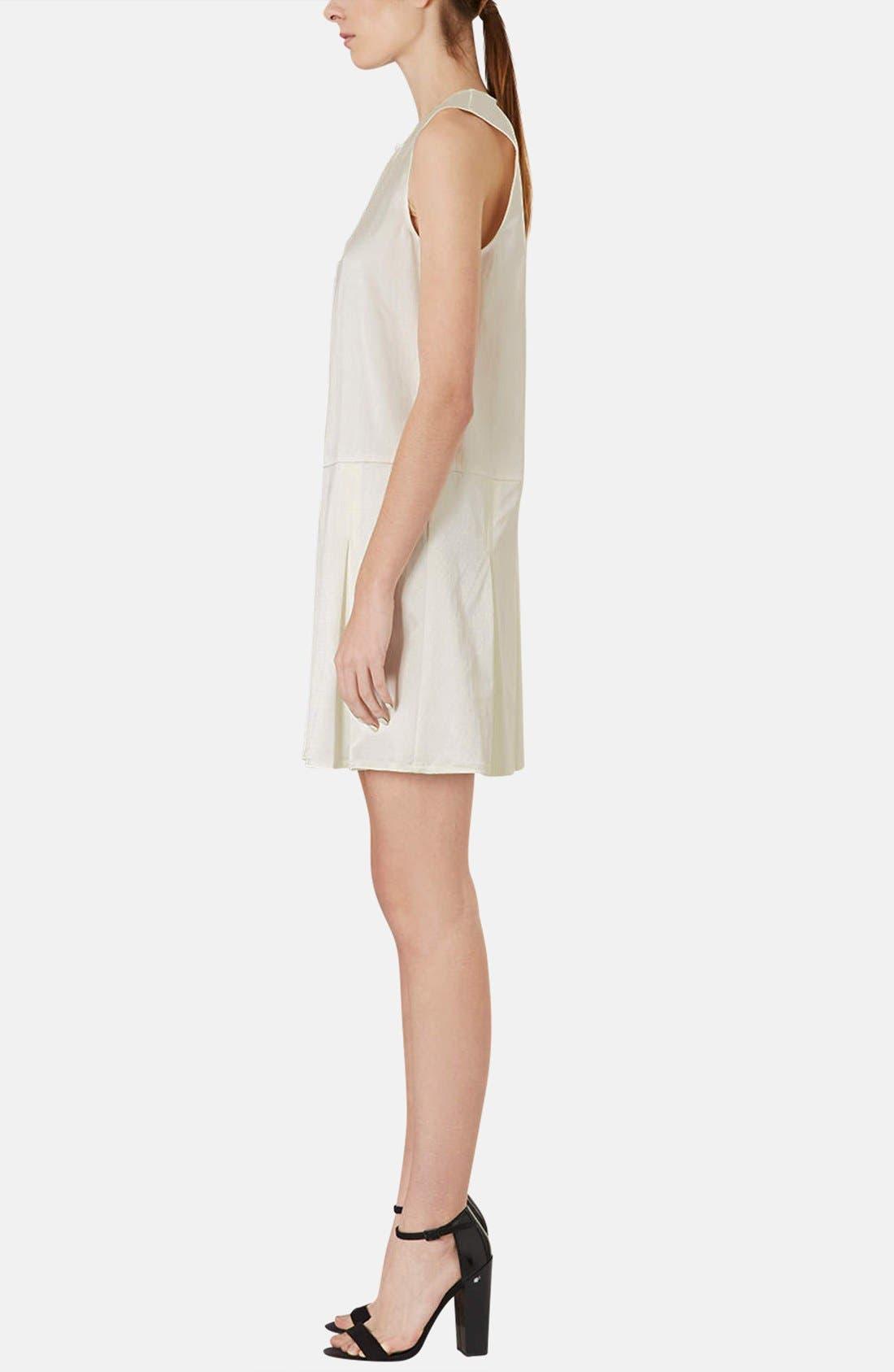 Alternate Image 4  - Topshop Pleated Silk Shift Dress