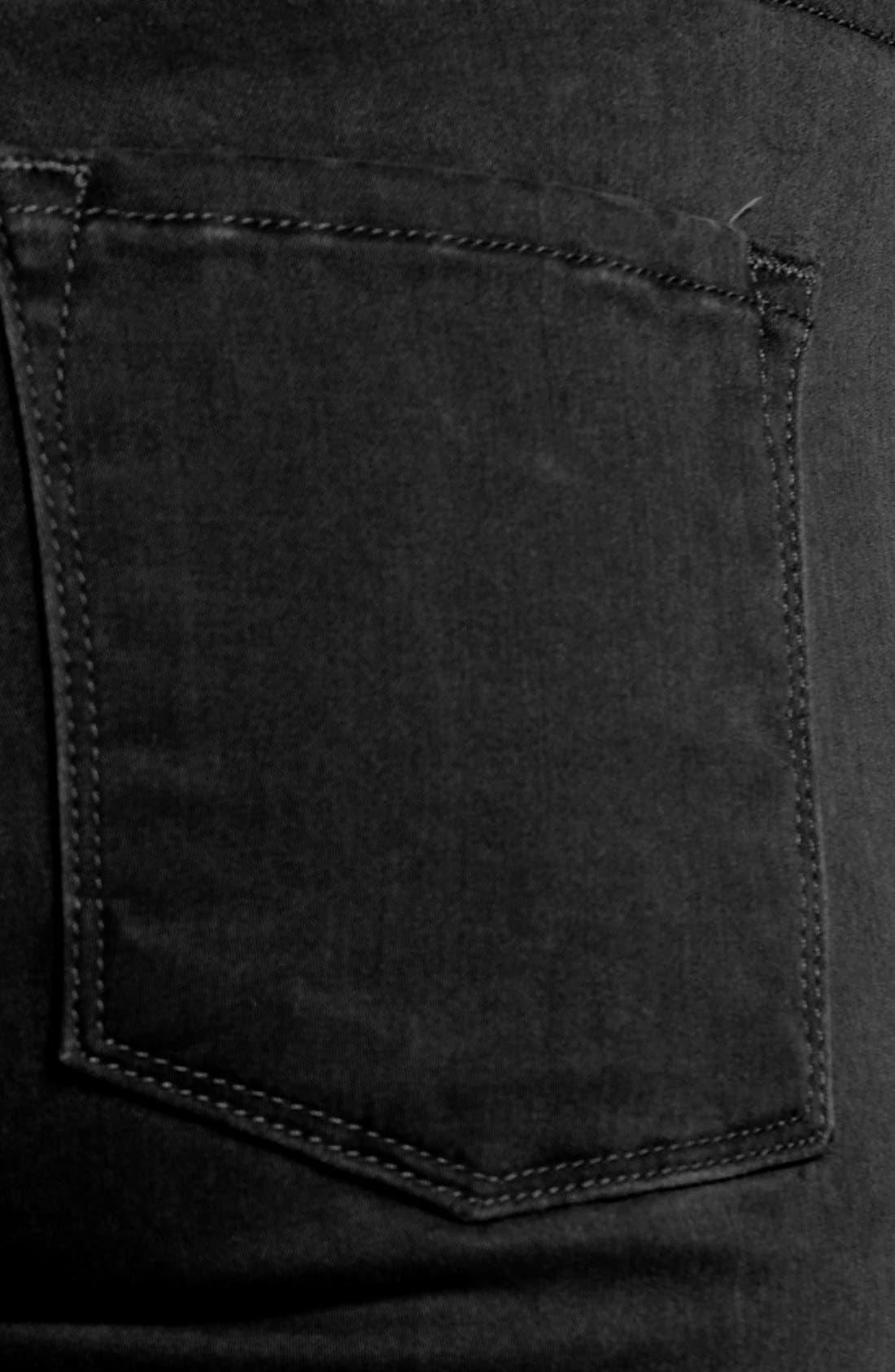 Alternate Image 4  - Frame Denim 'Le Luxe Noir' Skinny Jeans (Vian)