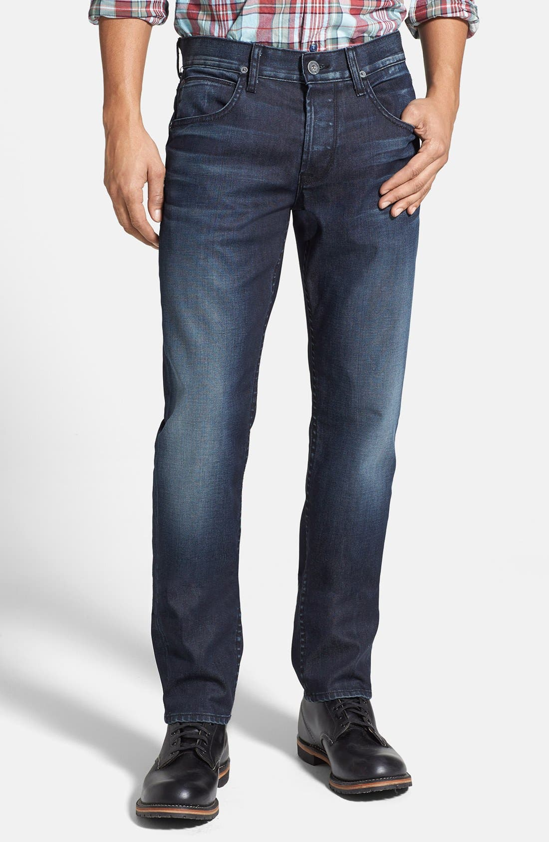 Alternate Image 1 Selected - Hudson Jeans 'Blake' Slim Straight Leg Jeans (Darkness)