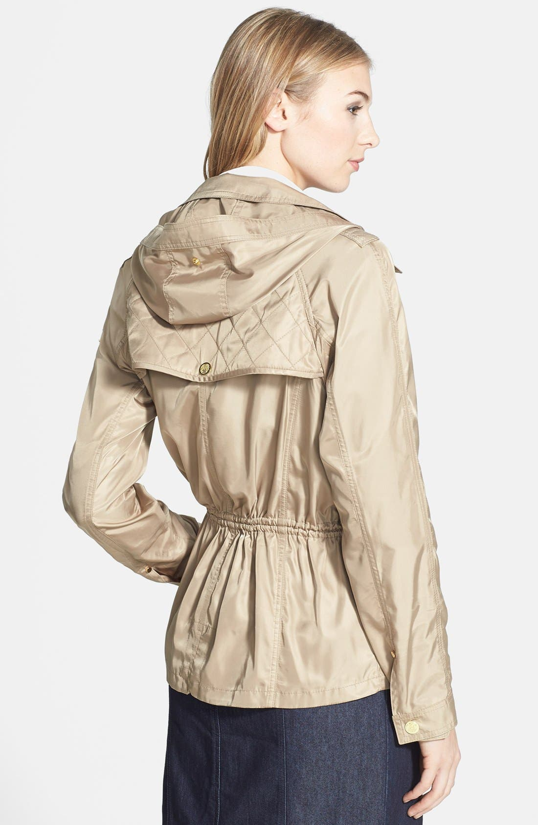 Alternate Image 2  - Vince Camuto Quilt Detail Short Anorak