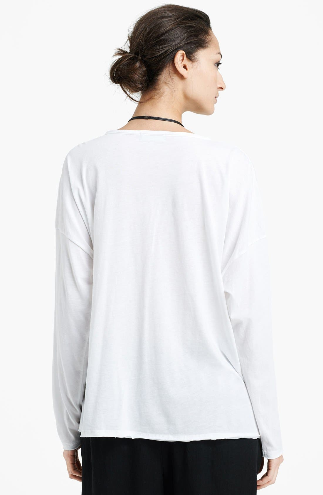 Alternate Image 2  - eskandar Long Sleeve Boatneck Linen Tee