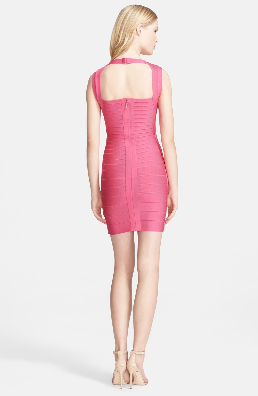 Alternate Image 2  - Herve Leger Open Back Bandage Dress