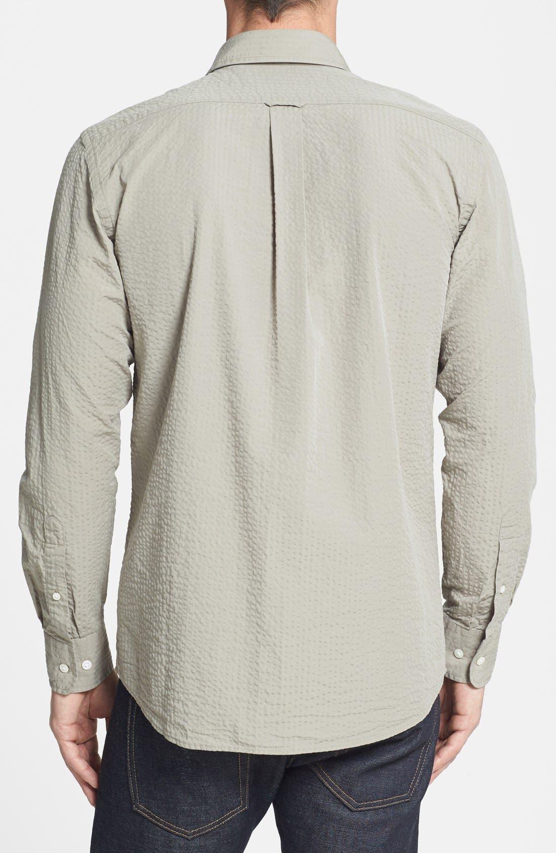 Alternate Image 2  - Façonnable Classique Fit Seersucker Sport Shirt