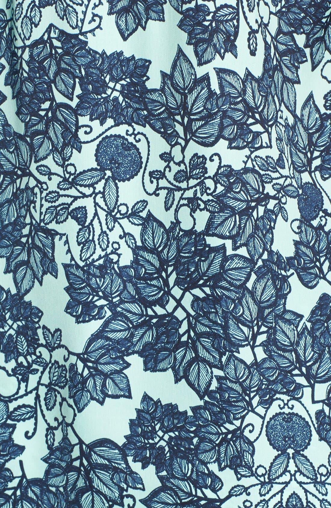 Alternate Image 5  - PJ Luxe 'Mint Leaves' Lace Trim Camisole