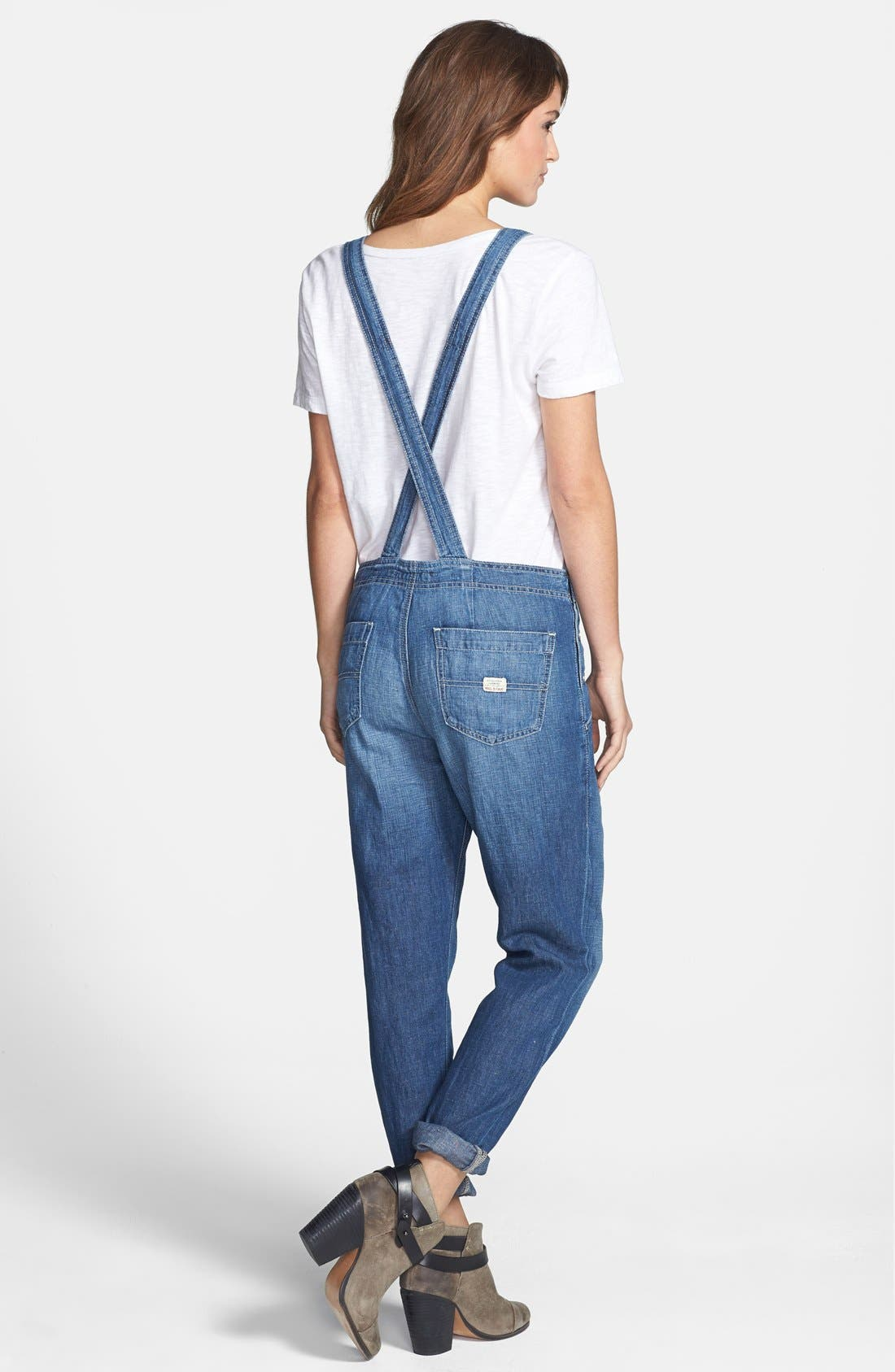Alternate Image 2  - Big Star 'Heather' Denim Overalls (Junction) (Regular & Petite)