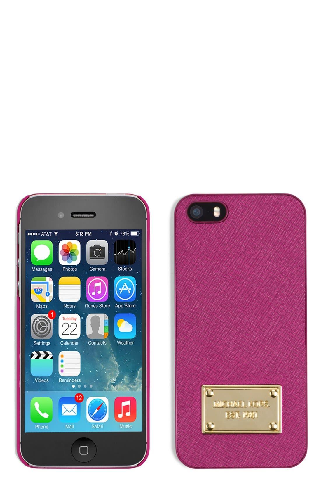 Main Image - MICHAEL Michael Kors Saffiano iPhone 5 Case